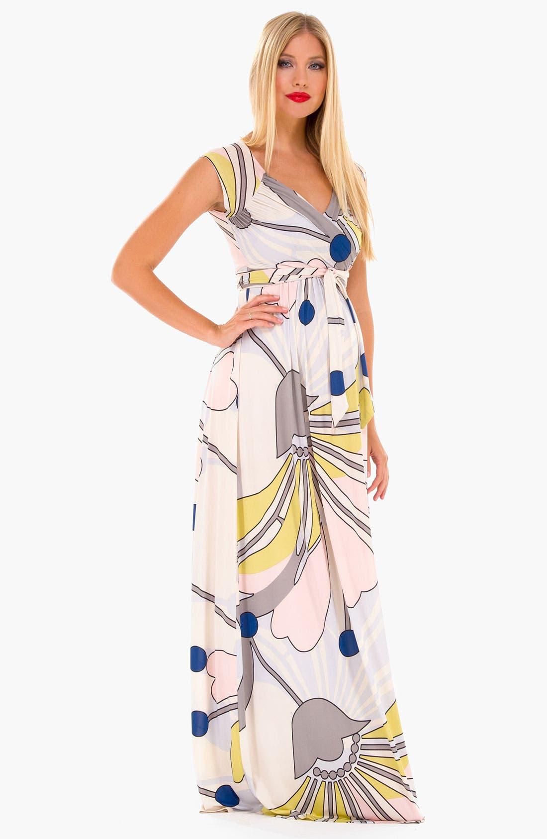Main Image - Olian 'Lucy' Maternity Draped Stretch Knit Dress
