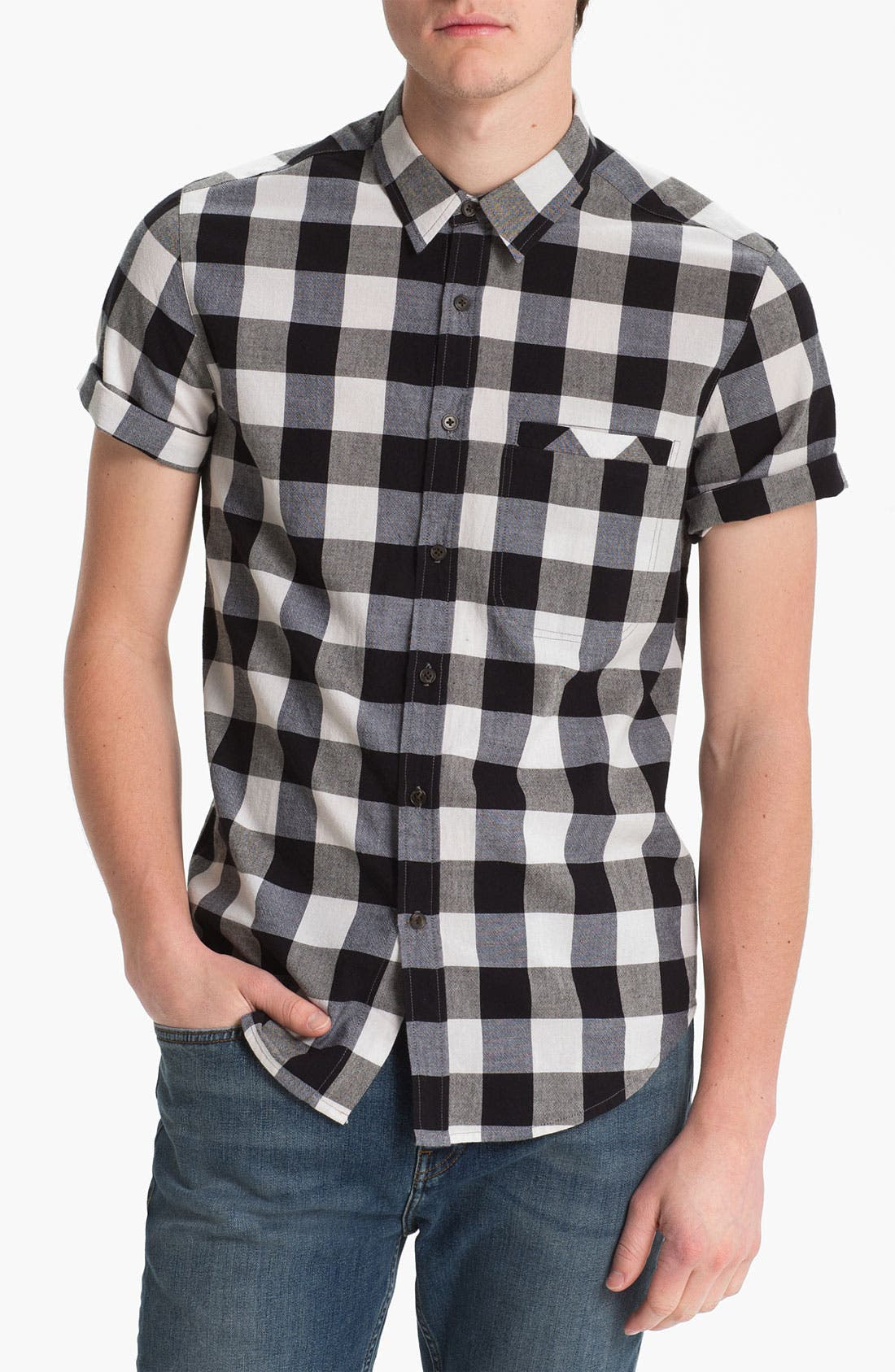 Alternate Image 1 Selected - Topman Gingham Shirt