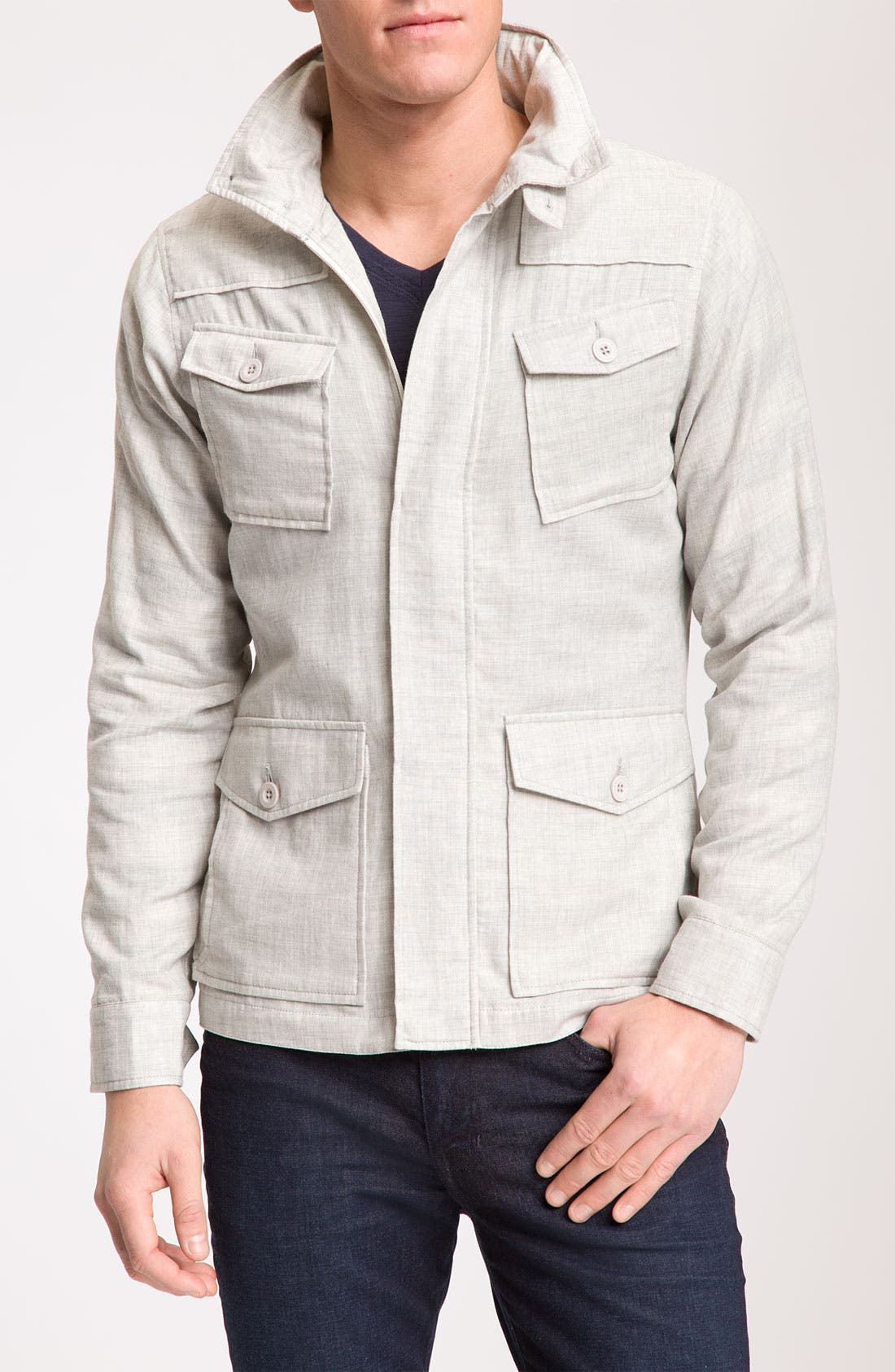 Alternate Image 1 Selected - Kane & Unke Trim Fit Cotton Jacket