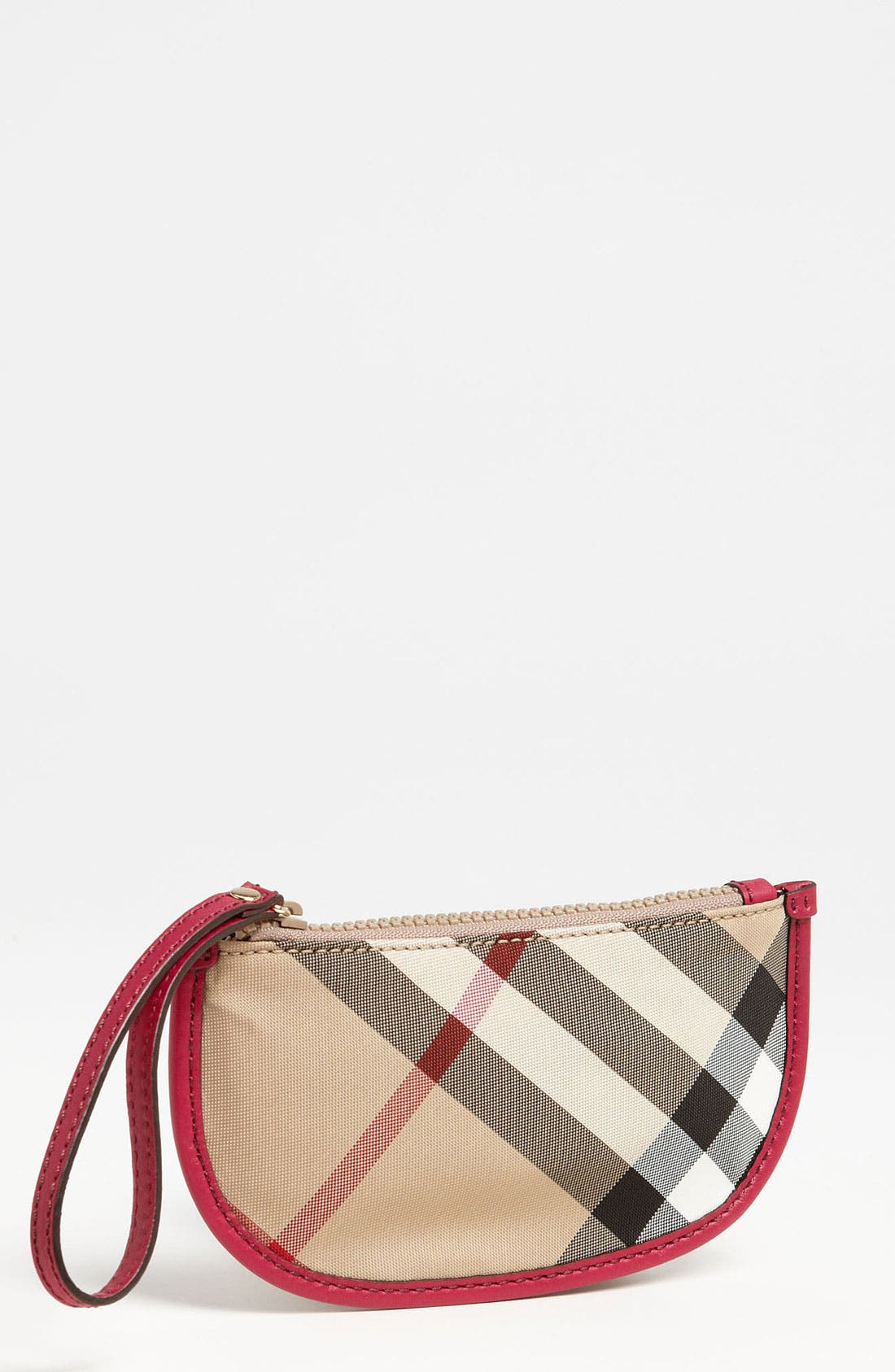 Main Image - Burberry 'Celia' House Check Zip Pouch (Girls)