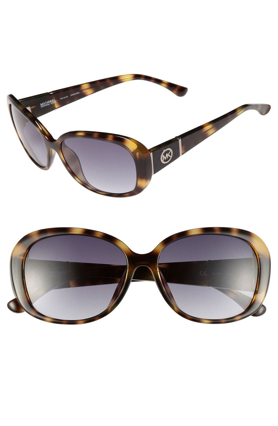 Alternate Image 1 Selected - MICHAEL Michael Kors 'Norwich' 56mm Sunglasses