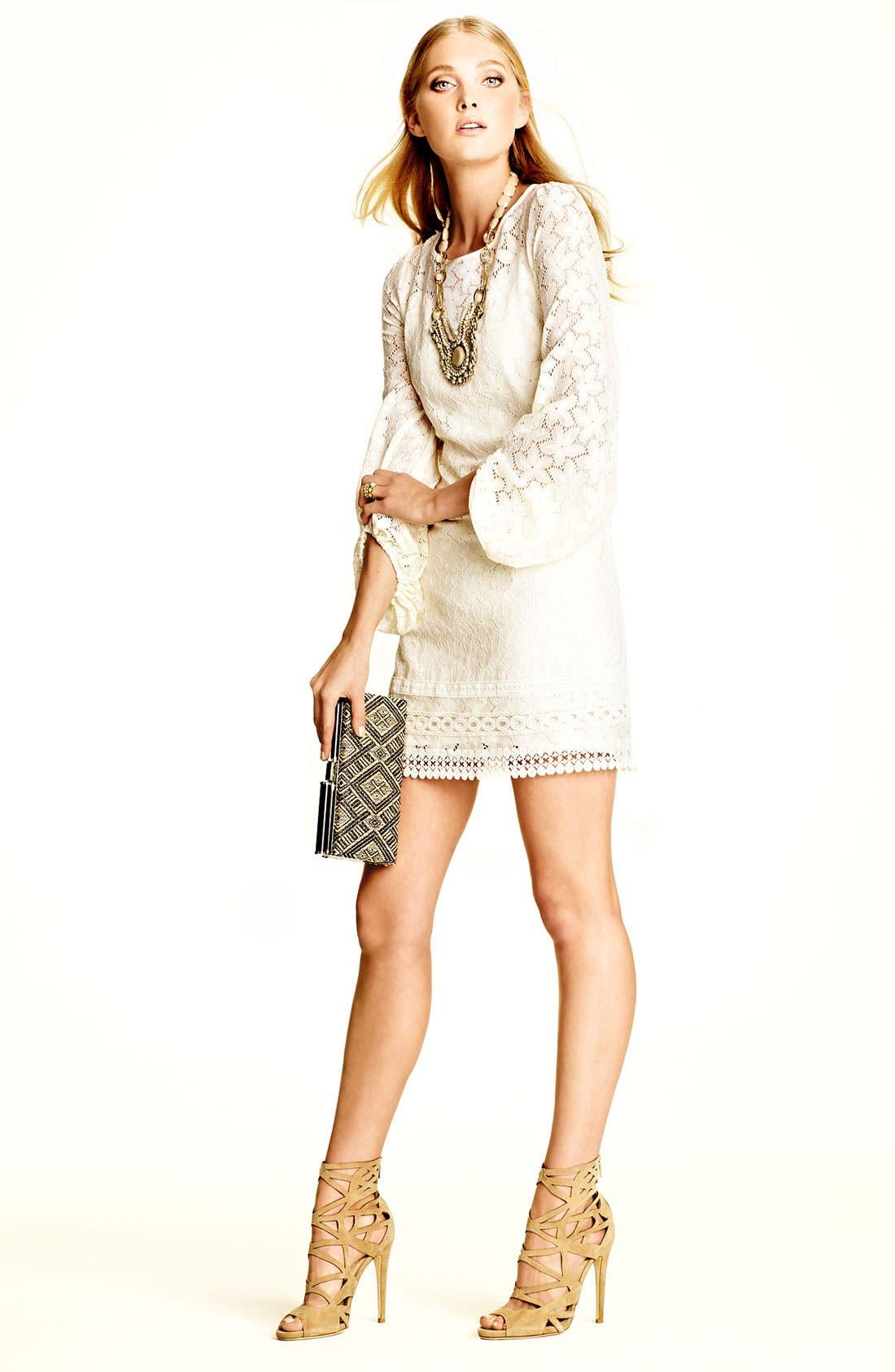 Alternate Image 3  - Laundry by Shelli Segal 'Sand Dollar' Lace Shift Dress (Petite)