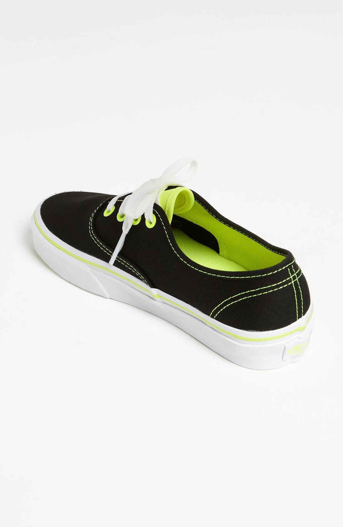 Alternate Image 2  - Vans 'Authentic - Neon Pop' Sneaker (Women)