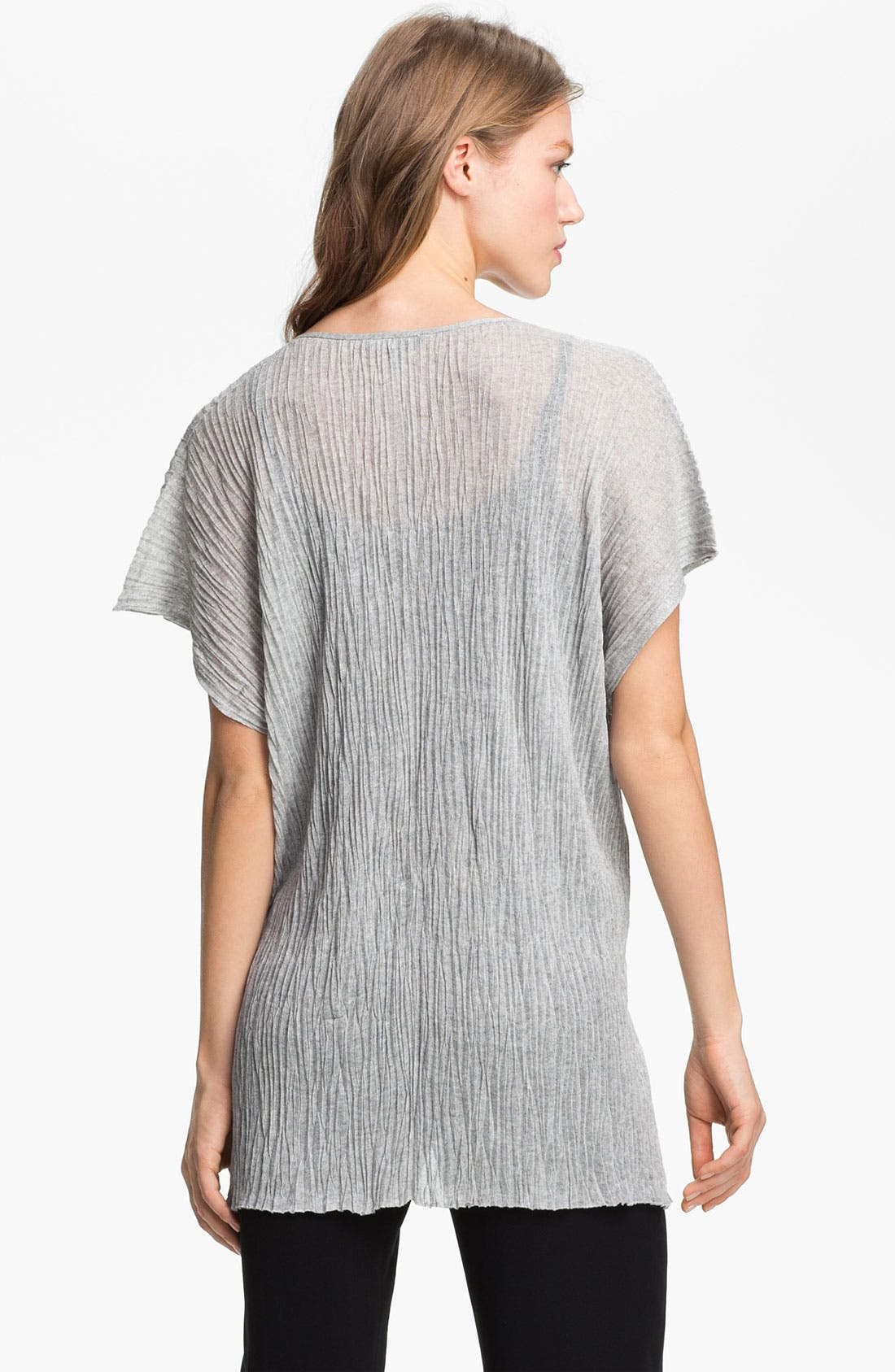 Alternate Image 2  - Eileen Fisher Boxy Crinkled V-Neck Tunic