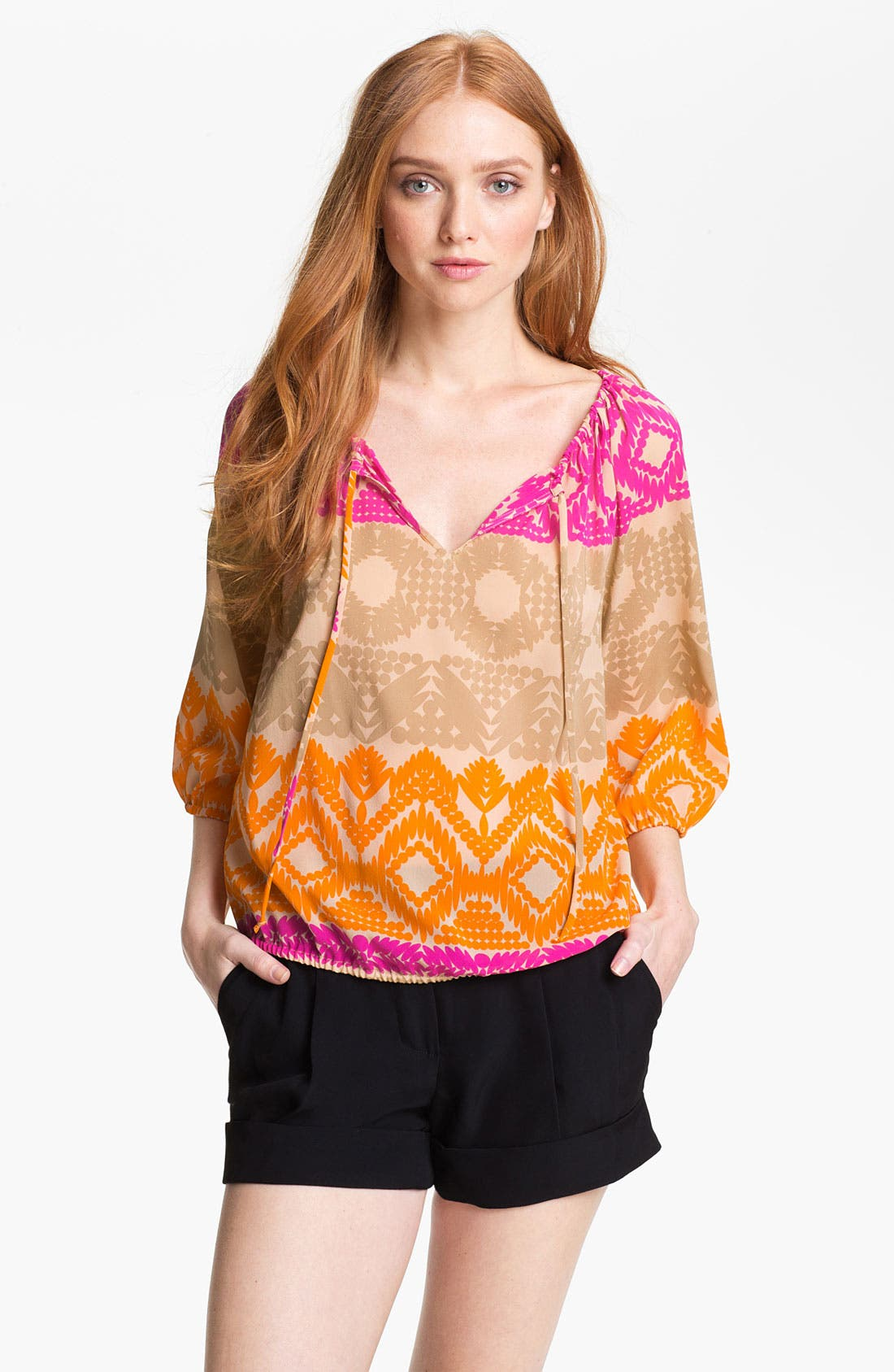 Main Image - Trina Turk 'Traveller' Stretch Silk Top