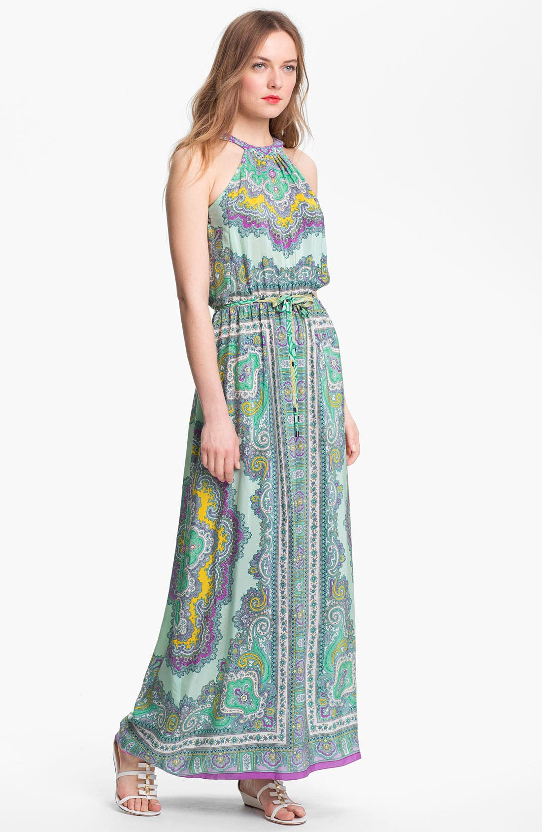 Main Image - Nanette Lepore 'Beach Lover' Silk Maxi Dress