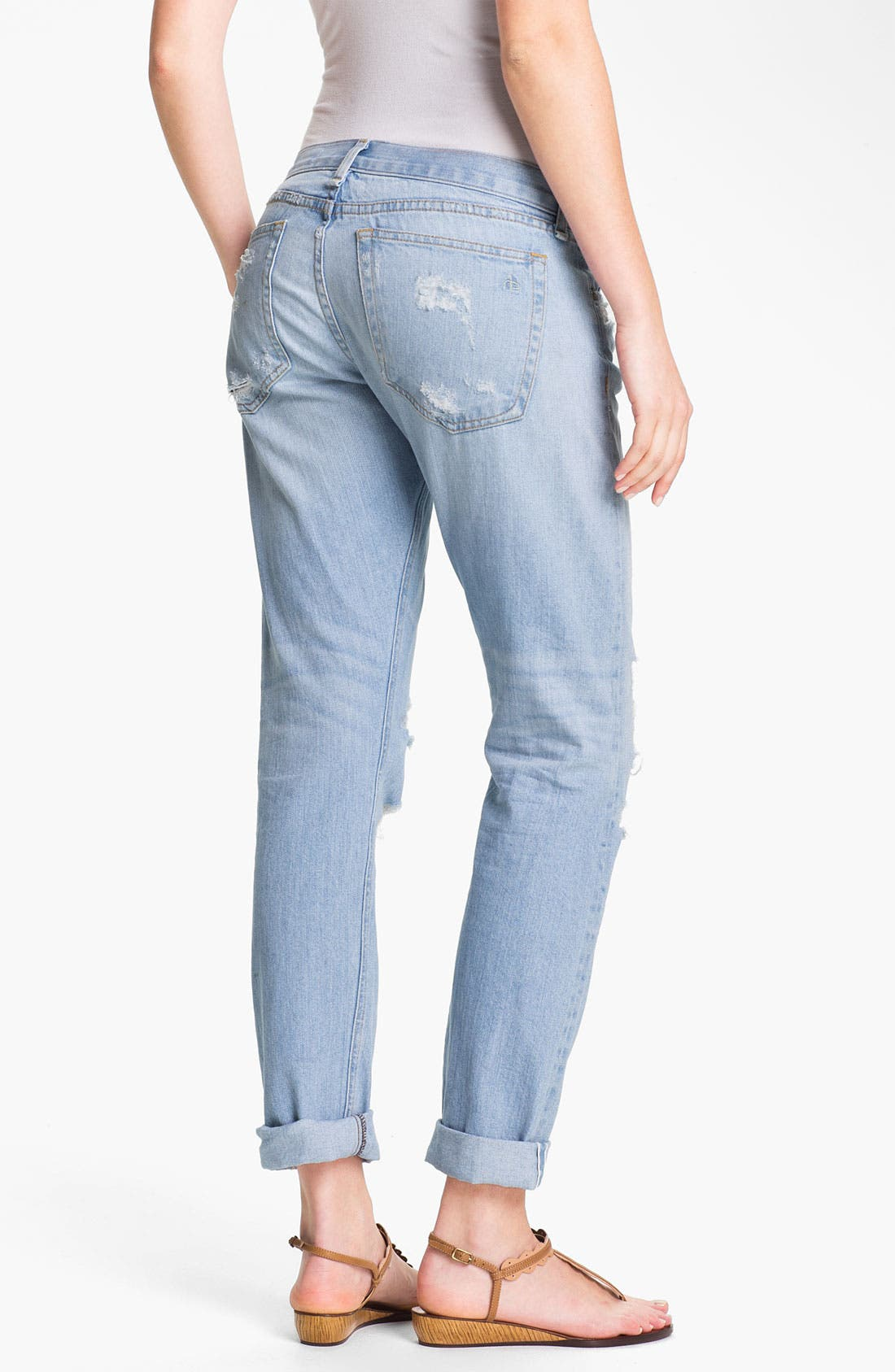 Alternate Image 3  - rag & bone/JEAN 'The Boyfriend' Selvedge Denim Jeans