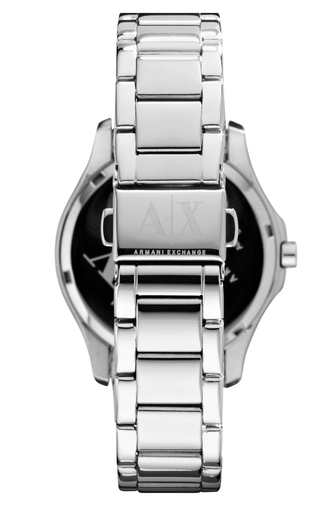 Alternate Image 3  - AX Armani Exchange Quilted Dial Bracelet Watch, 36mm (Online Only)