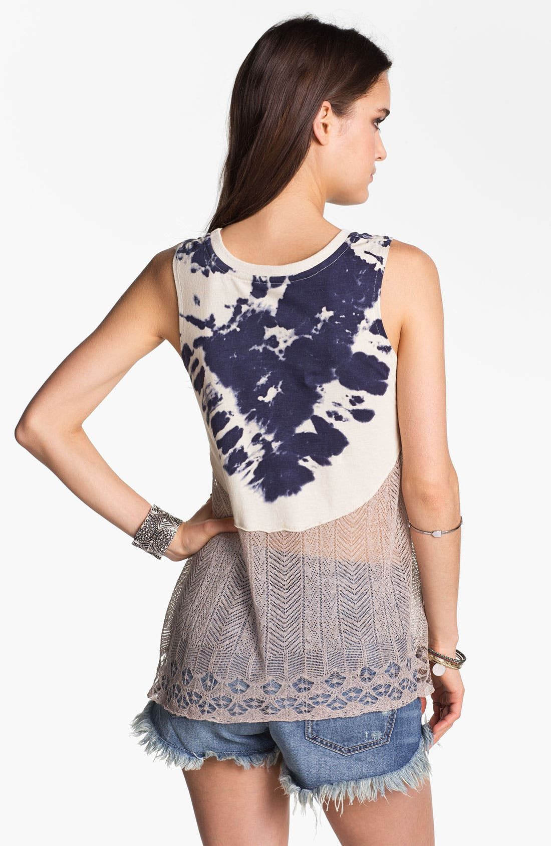 Alternate Image 2  - Free People 'Bonnaroo' Tie Dye & Crochet Tank