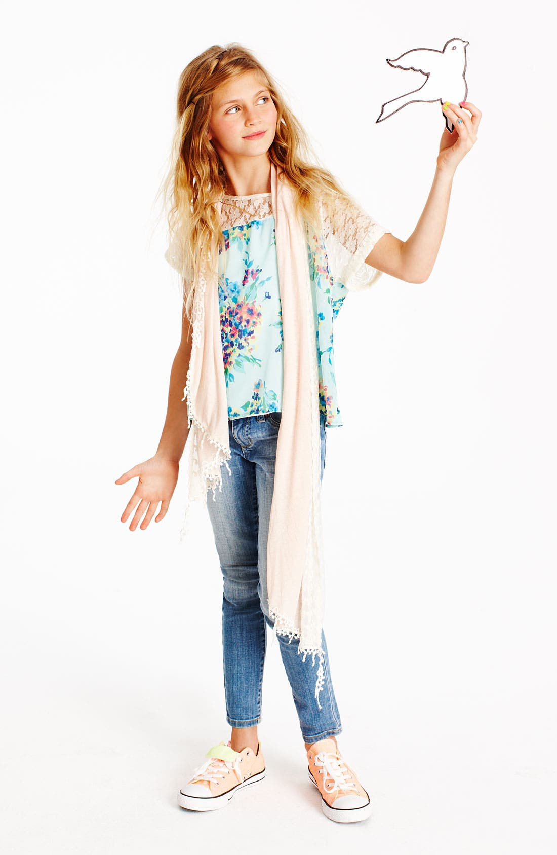 Alternate Image 2  - The Accessory Collective Scarf (Girls)