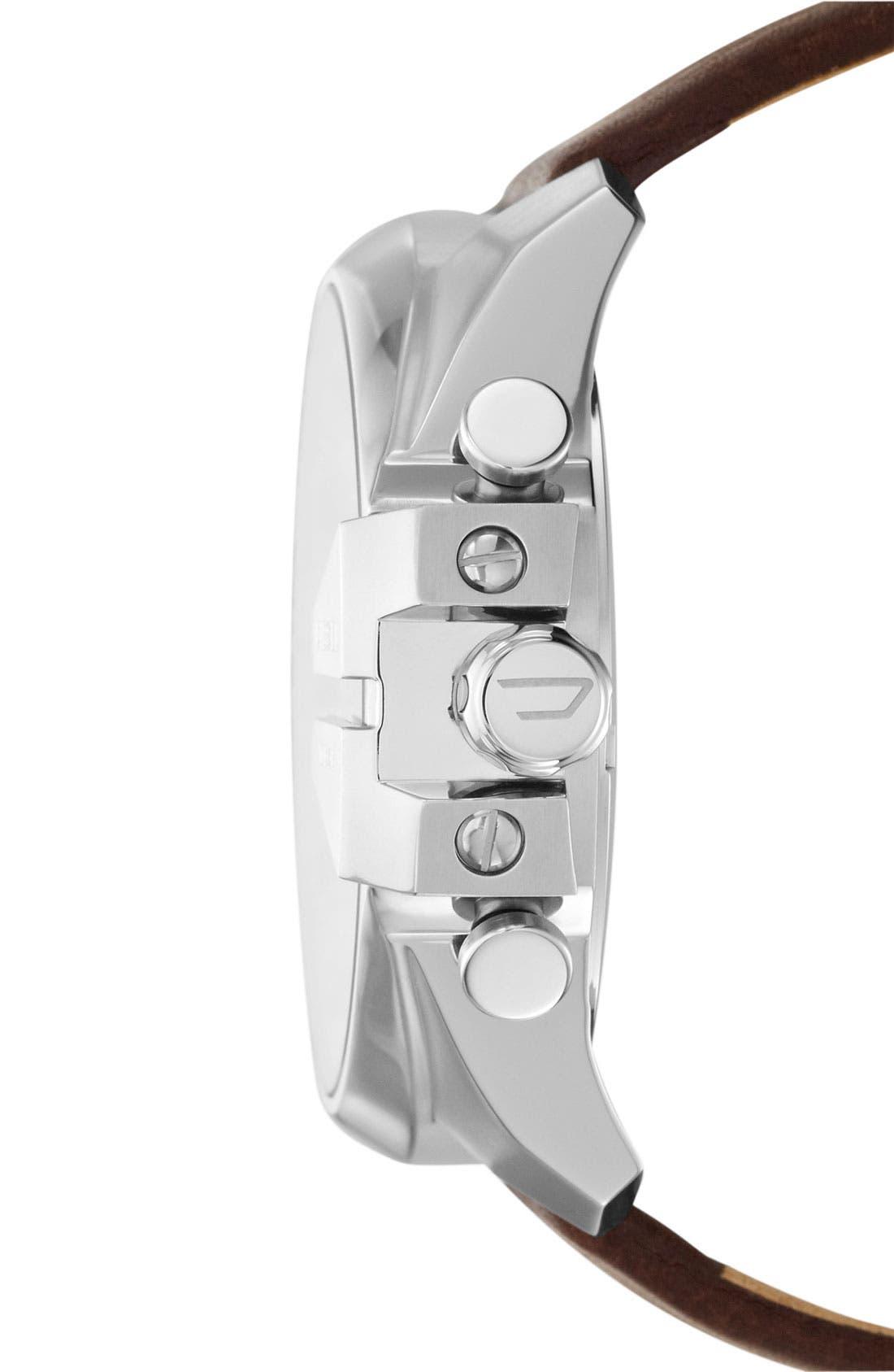 Alternate Image 2  - DIESEL® 'Mega Chief' Leather Strap Watch, 51mm