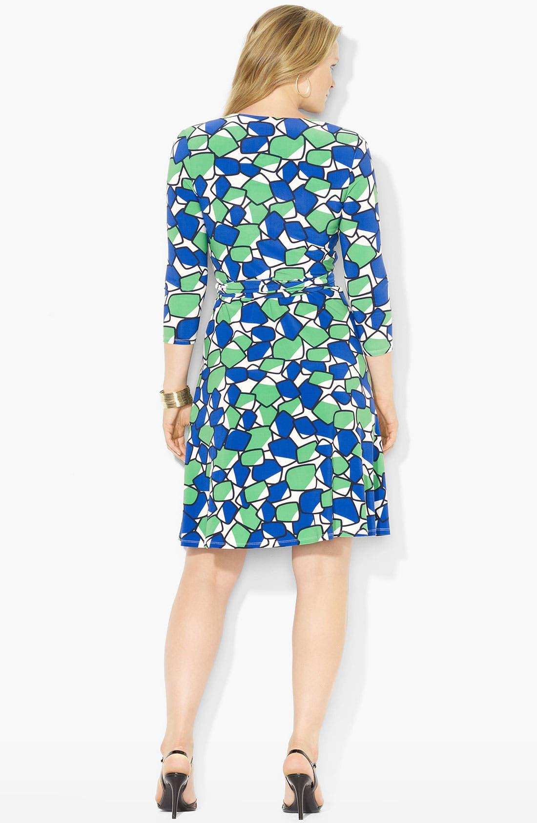 Alternate Image 2  - Lauren Ralph Lauren Geo Print Wrap Dress