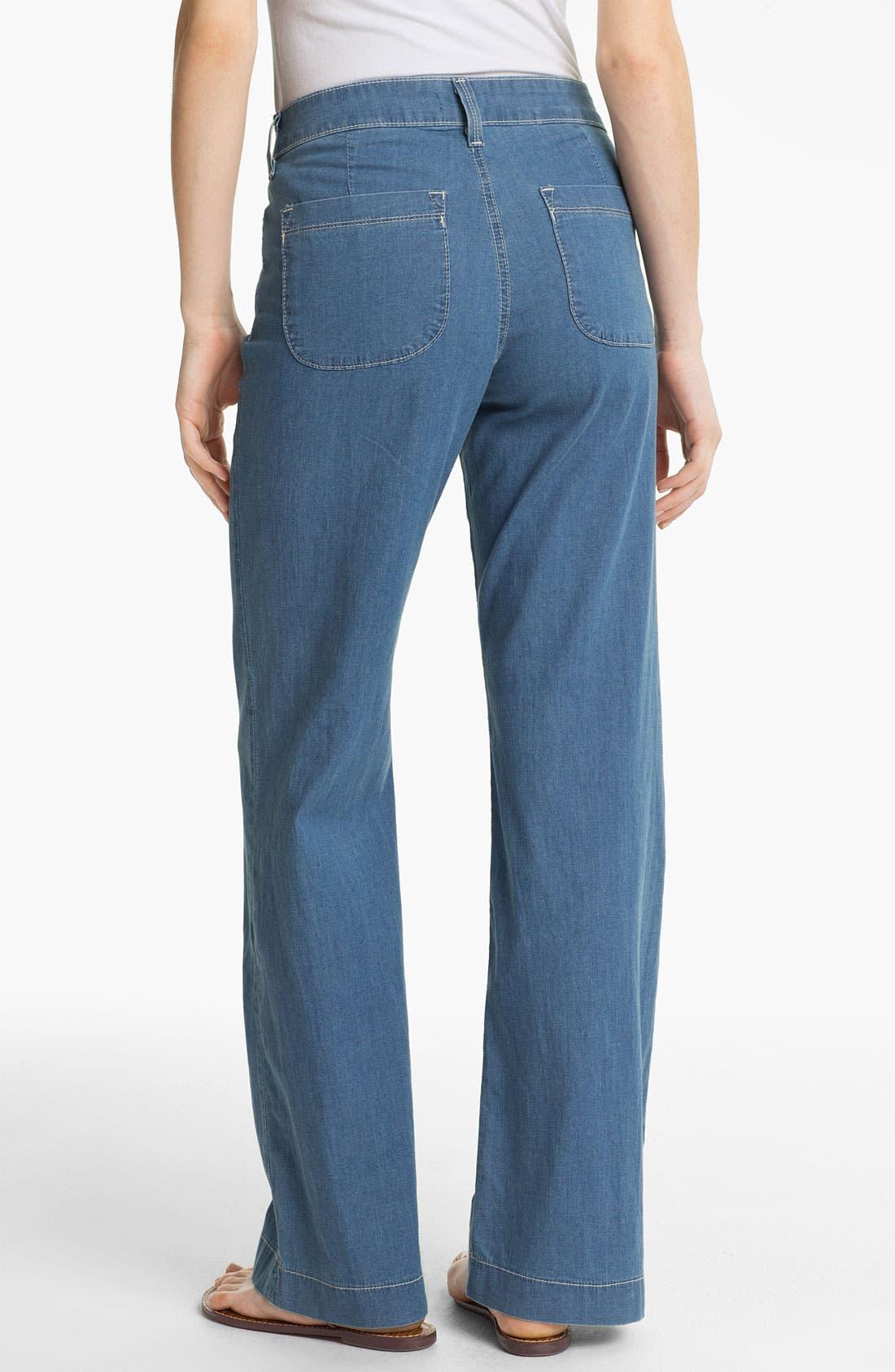 Alternate Image 2  - NYDJ 'Lizzie' Wide Leg Stretch Jeans
