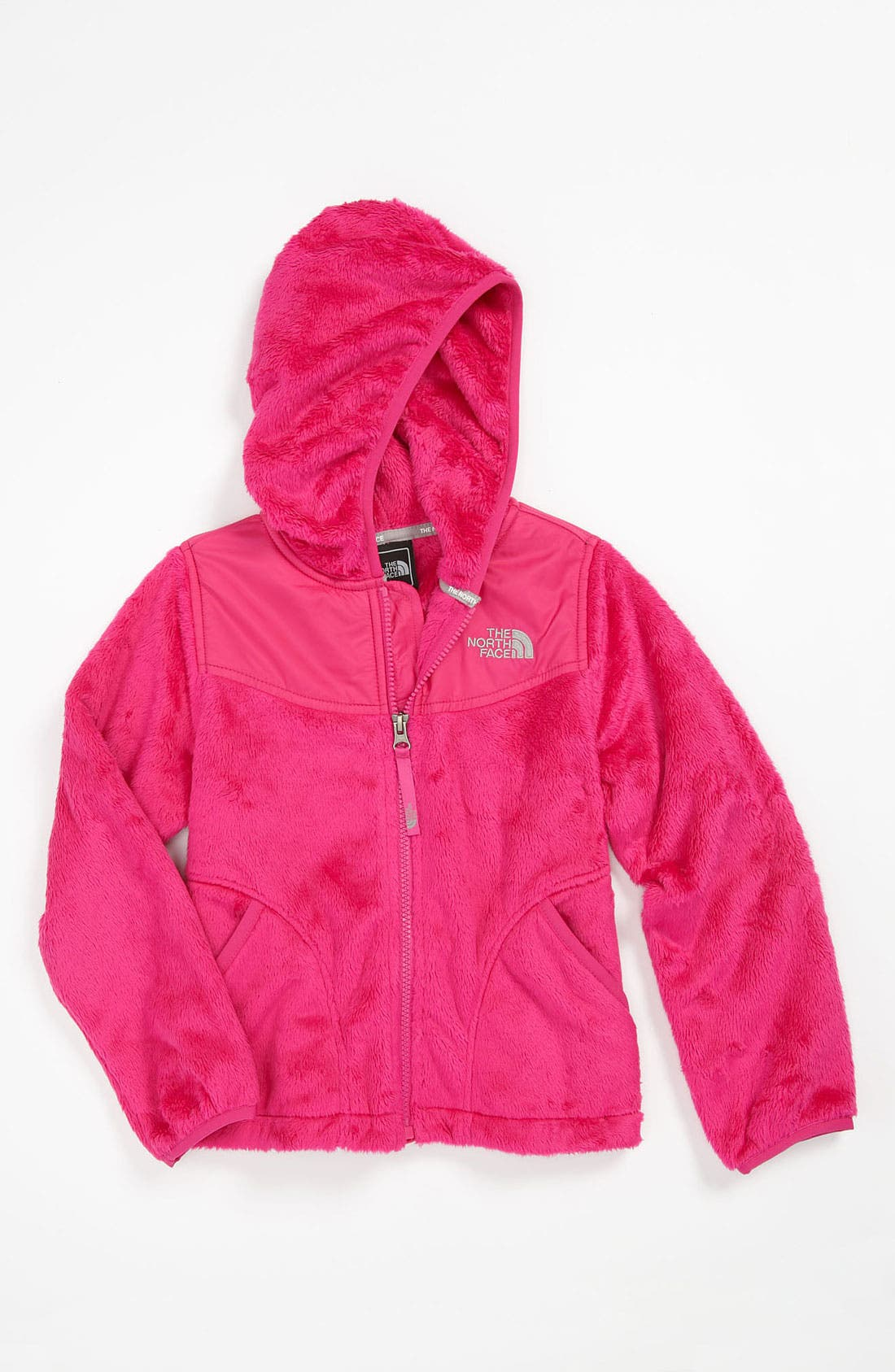Main Image - The North Face 'Oso' Plush Fleece Hooded Jacket (Big Girls)