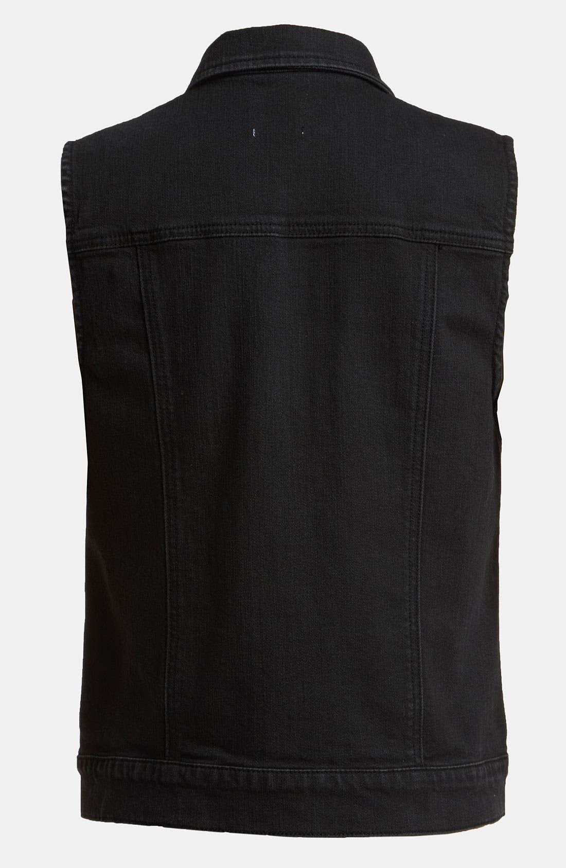 Alternate Image 2  - Leith Sleeveless Denim Jacket