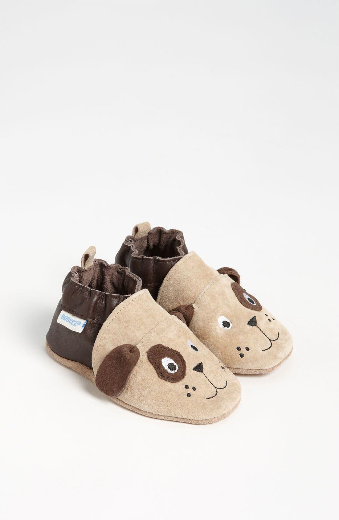 Alternate Image 1 Selected - Robeez® '3D Dog' Crib Shoe (Baby & Walker)