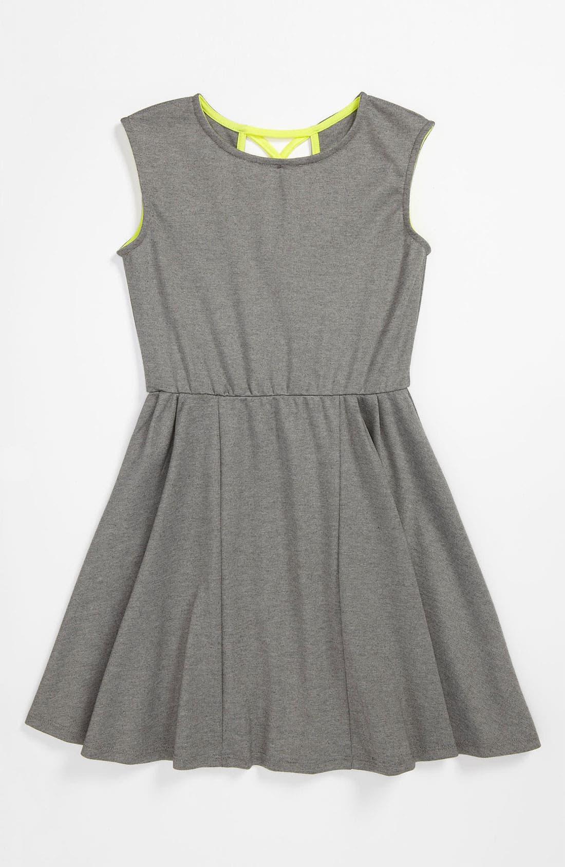 Main Image - W Girl Neon Trim Dress (Big Girls)
