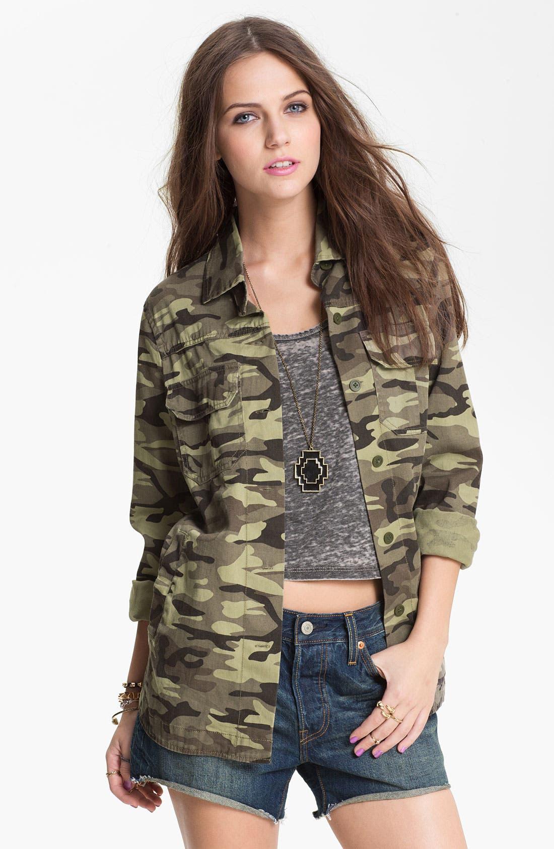 Alternate Image 1 Selected - Elodie Camo Army Jacket (Juniors)