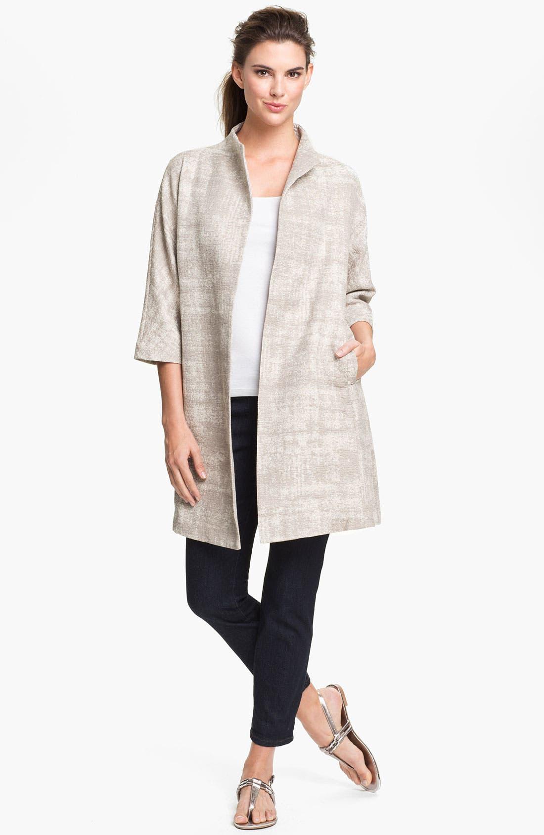 Alternate Image 4  - Eileen Fisher Illusion Jacquard Coat