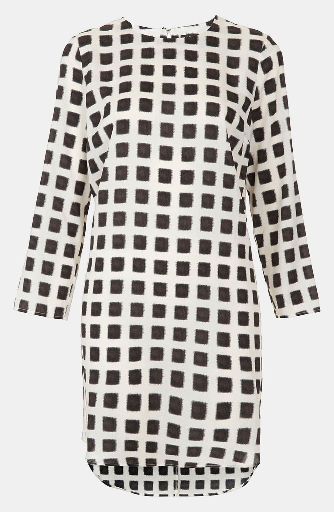 Alternate Image 2  - Topshop Grid Print Shift Dress