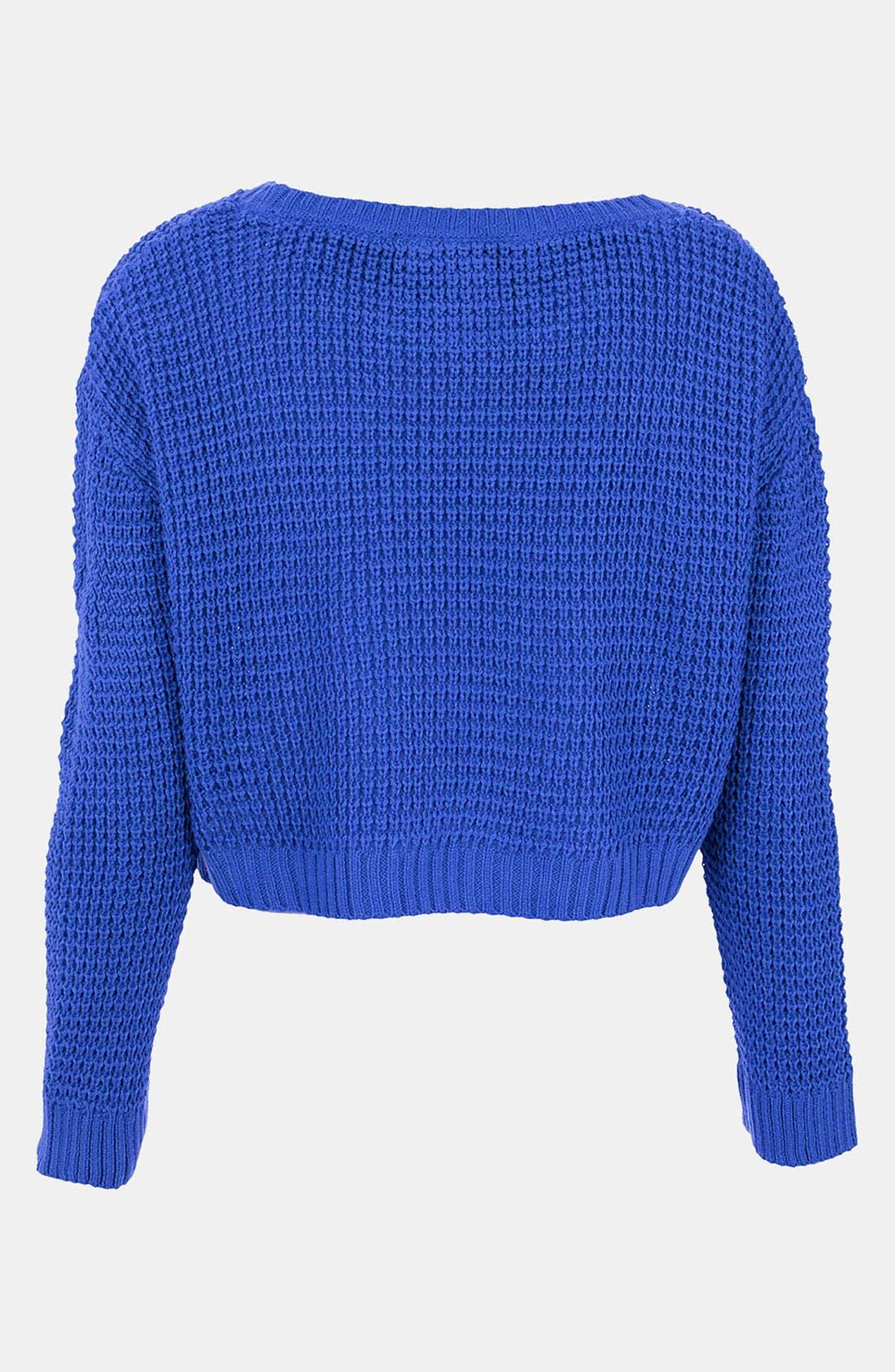 Alternate Image 2  - Topshop Crop Sweater (Petite)