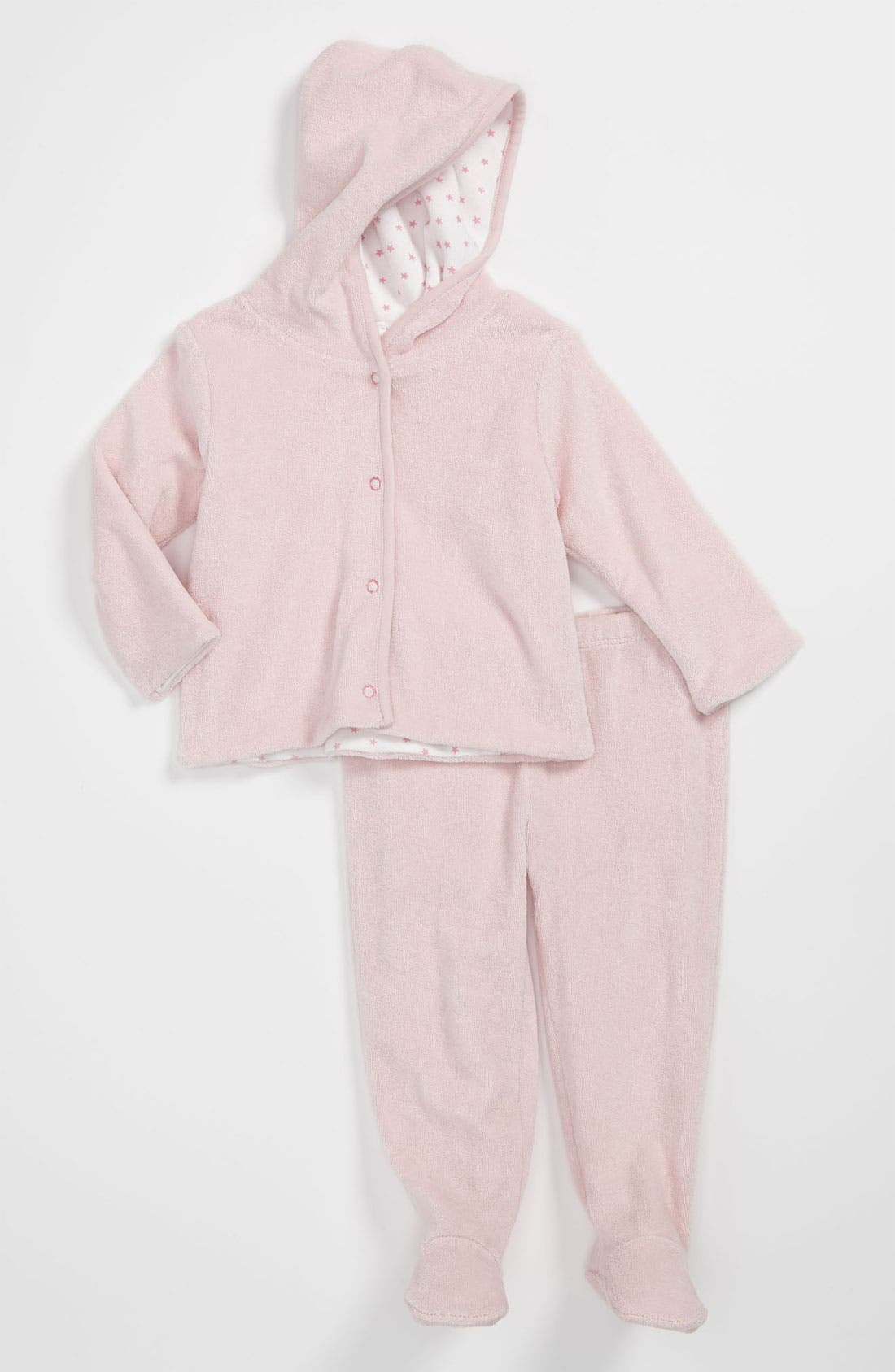 Main Image - Nordstrom Baby Terry Cloth Hoodie & Footed Pants (Baby)