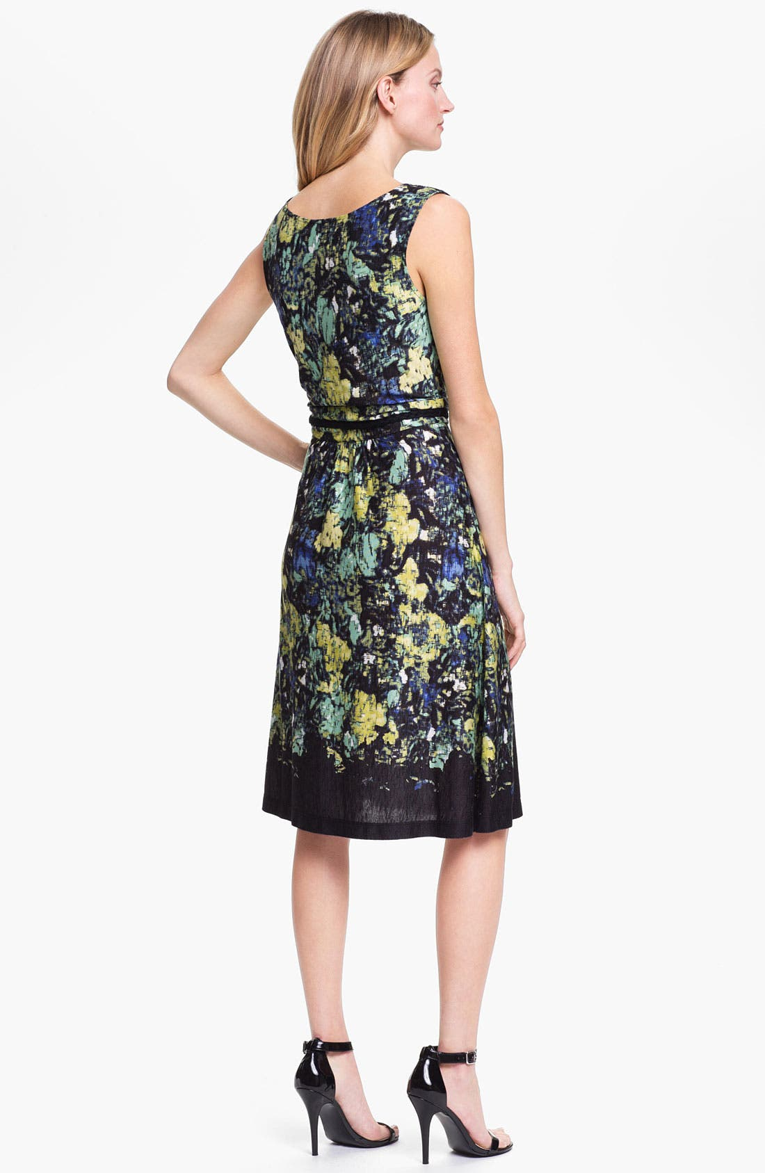Alternate Image 2  - Nic + Zoe Sleeveless Drape Neck Print Dress
