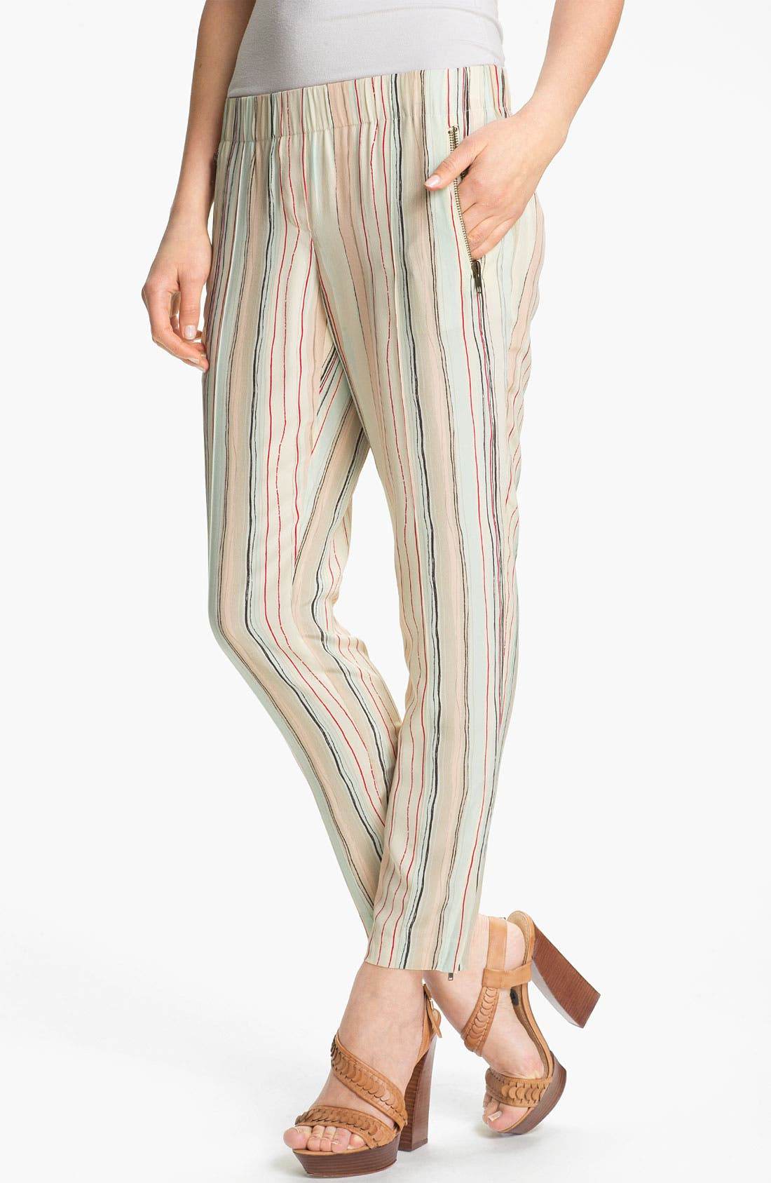 Alternate Image 1 Selected - Rachel Zoe 'Mona' Multi Stripe Silk Pants