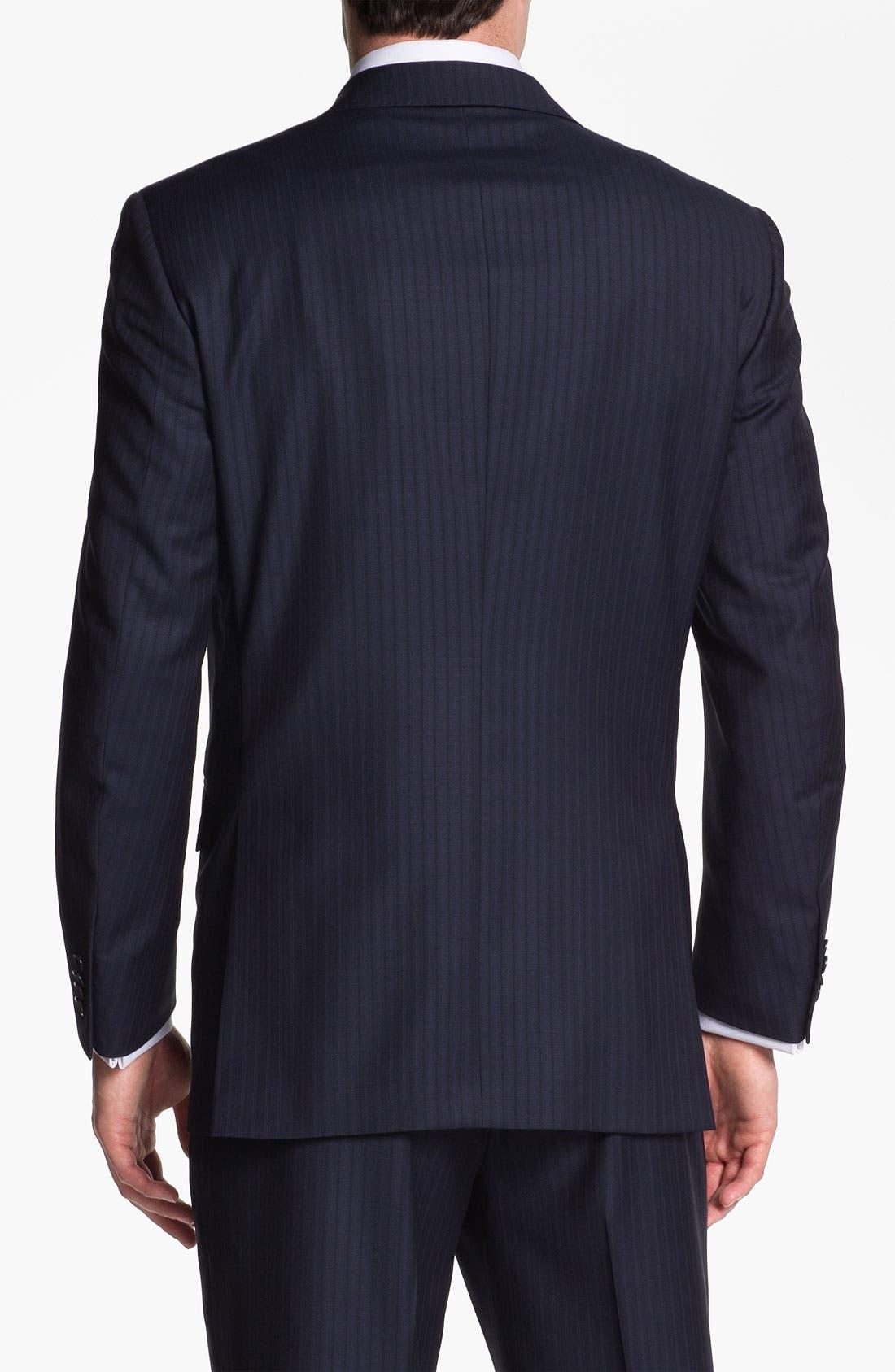 Alternate Image 8  - Peter Millar Stripe Wool Suit