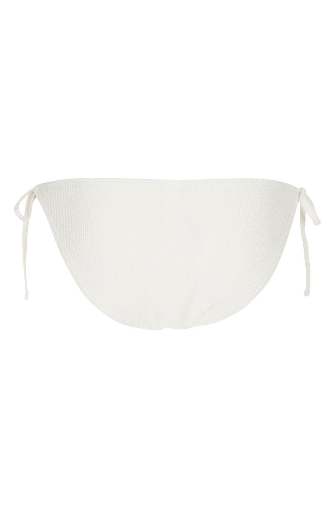 Alternate Image 2  - Topshop Scallop Side Tie Bikini Bottoms