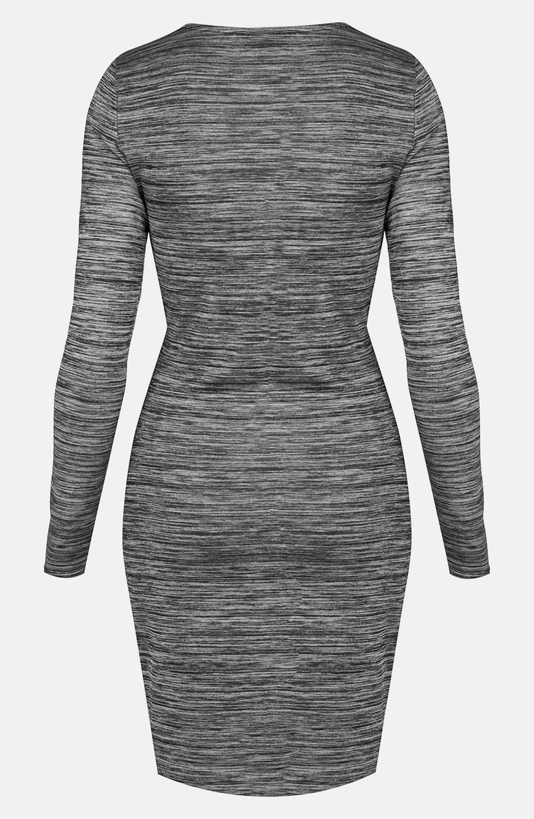 Alternate Image 2  - Topshop Space Dye Draped Body-Con Dress