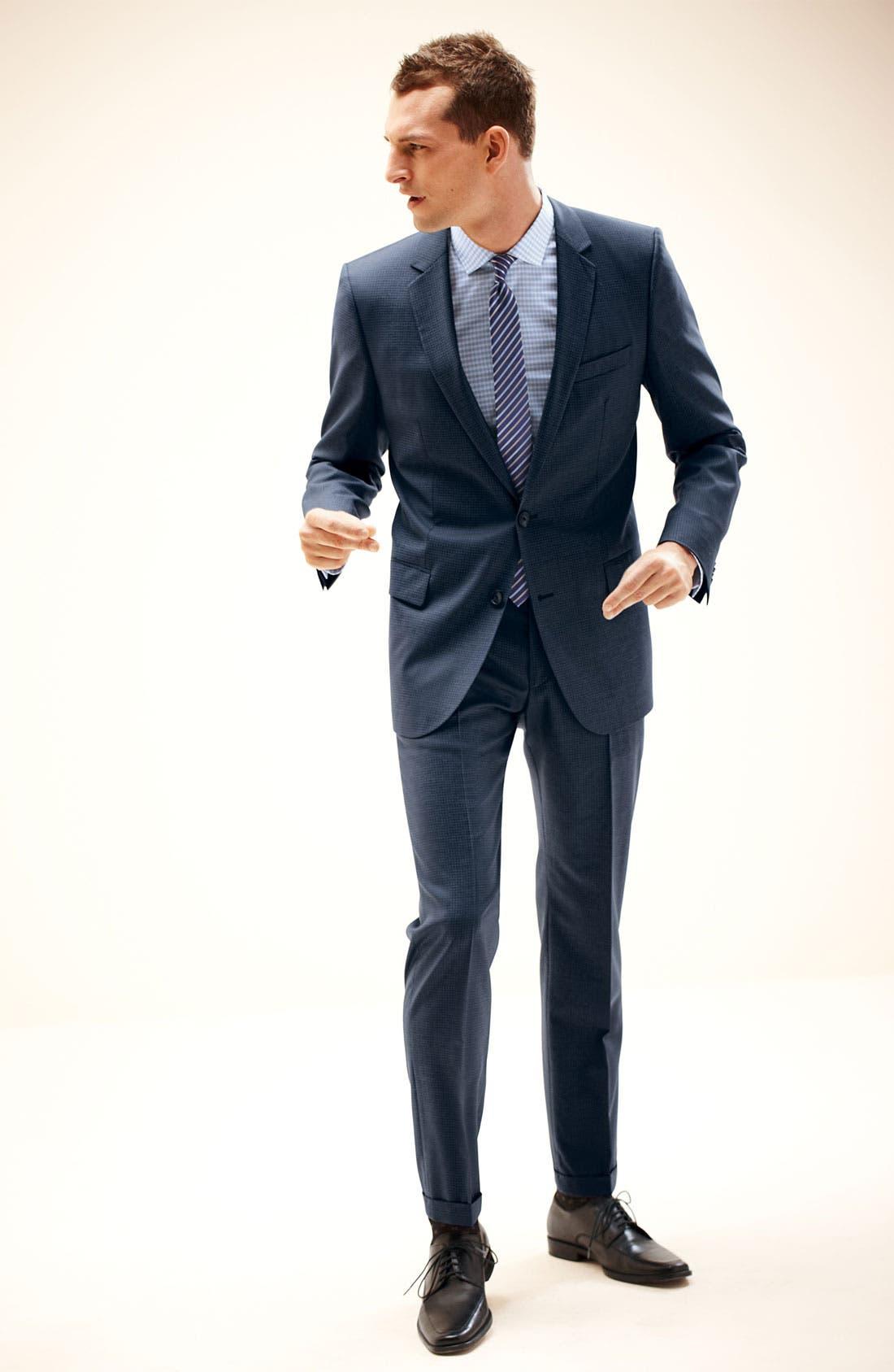 Alternate Image 1 Selected - HUGO Suit & Dress Shirt