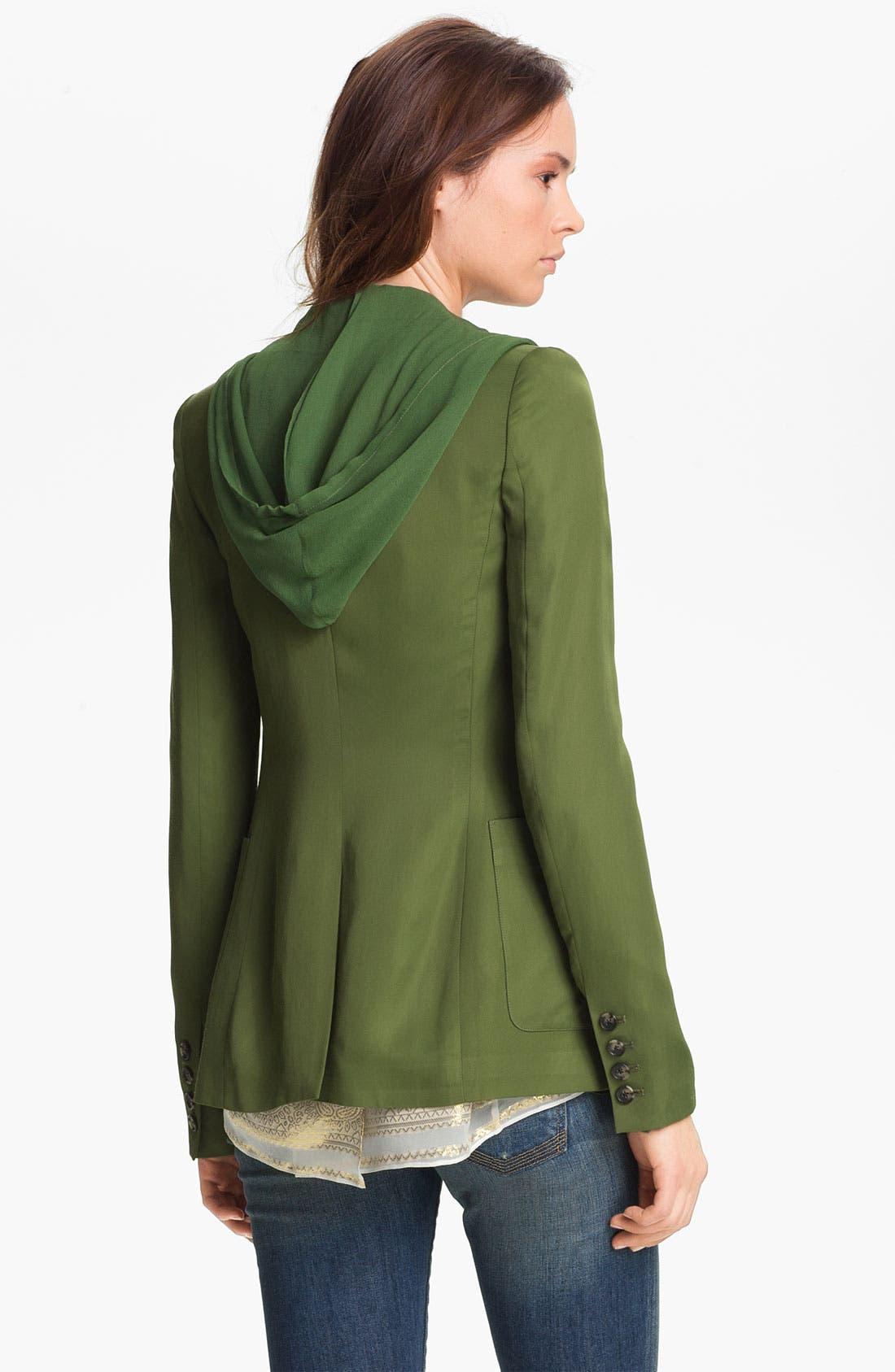 Alternate Image 4  - Elizabeth and James 'Mona' Hooded Crepe Vest & Satin Jacket