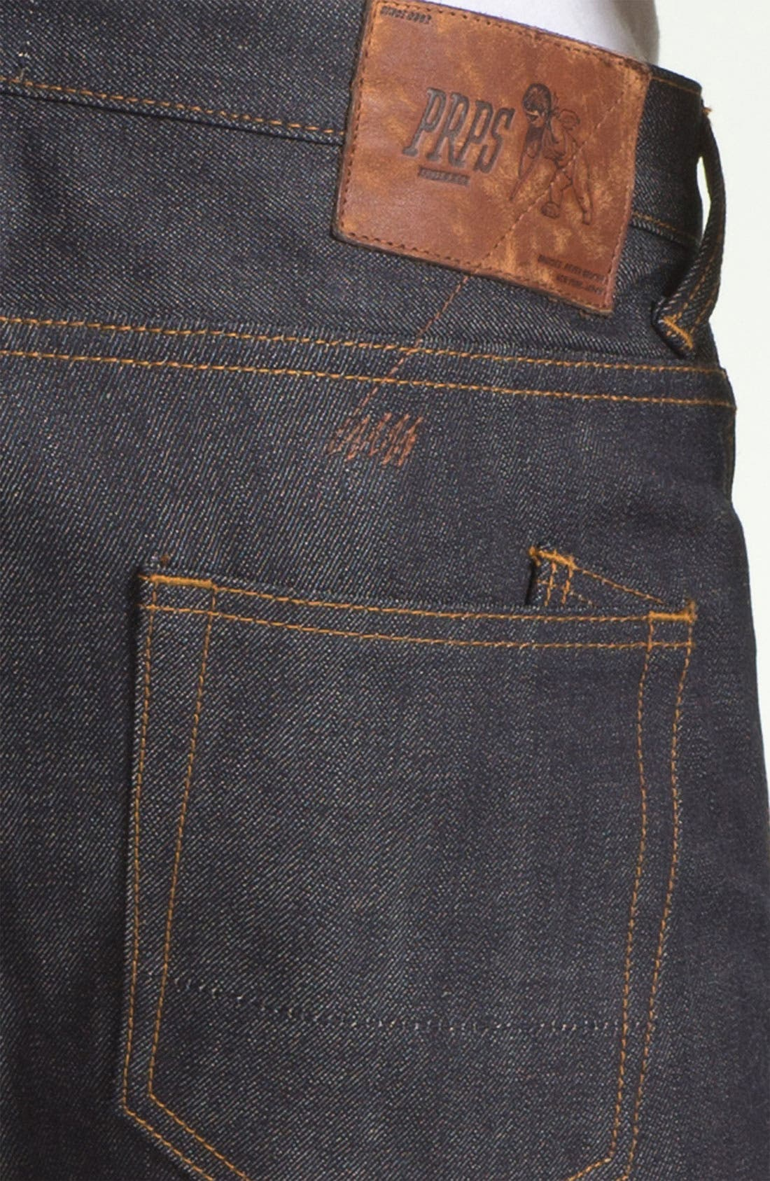 Alternate Image 4  - PRPS 'Rambler' Slim Fit Selvedge Jeans (Raw)