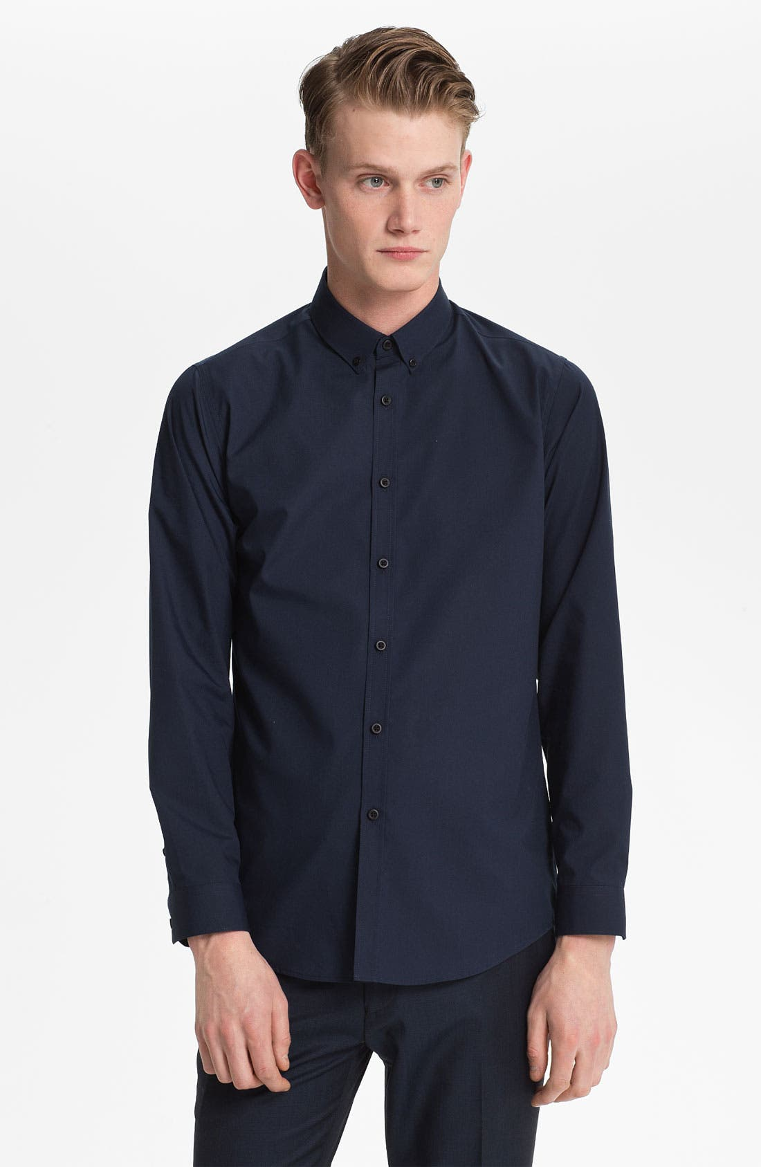 Alternate Image 1 Selected - Topman Slim Fit Dress Shirt