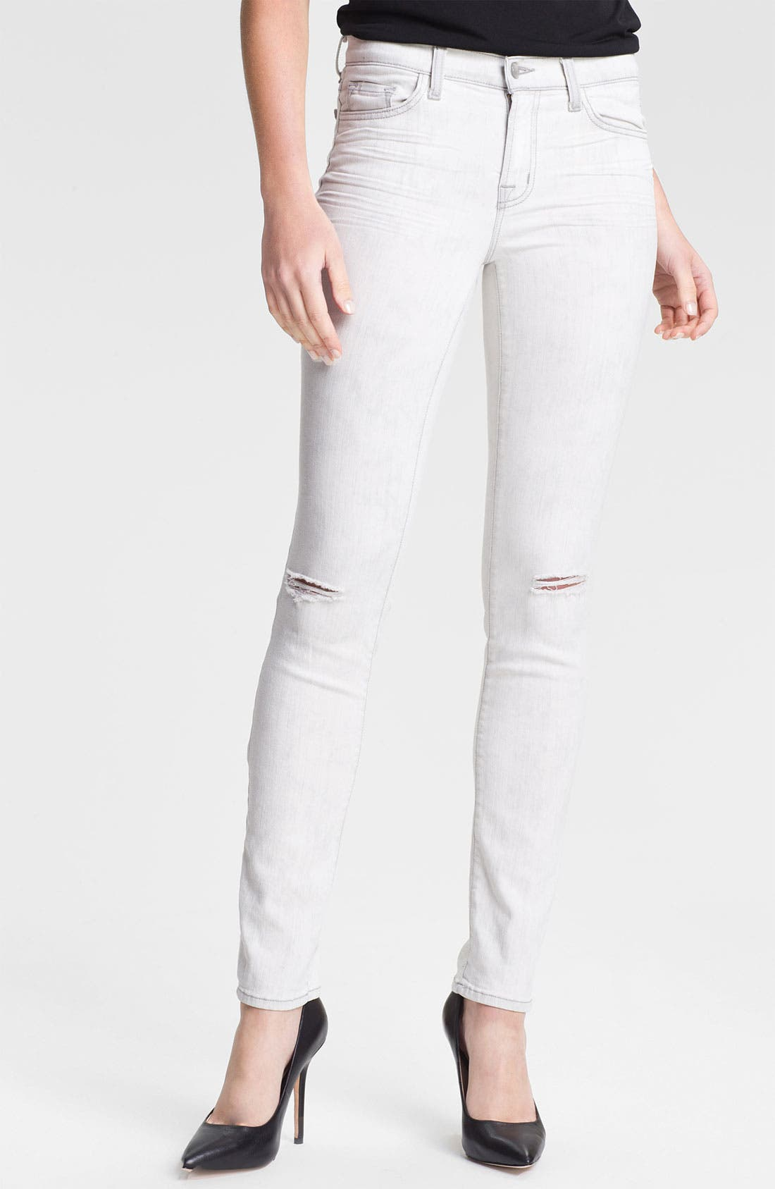 Alternate Image 1 Selected - J Brand 'Rail' Destroyed Skinny Jeans (Commotion)