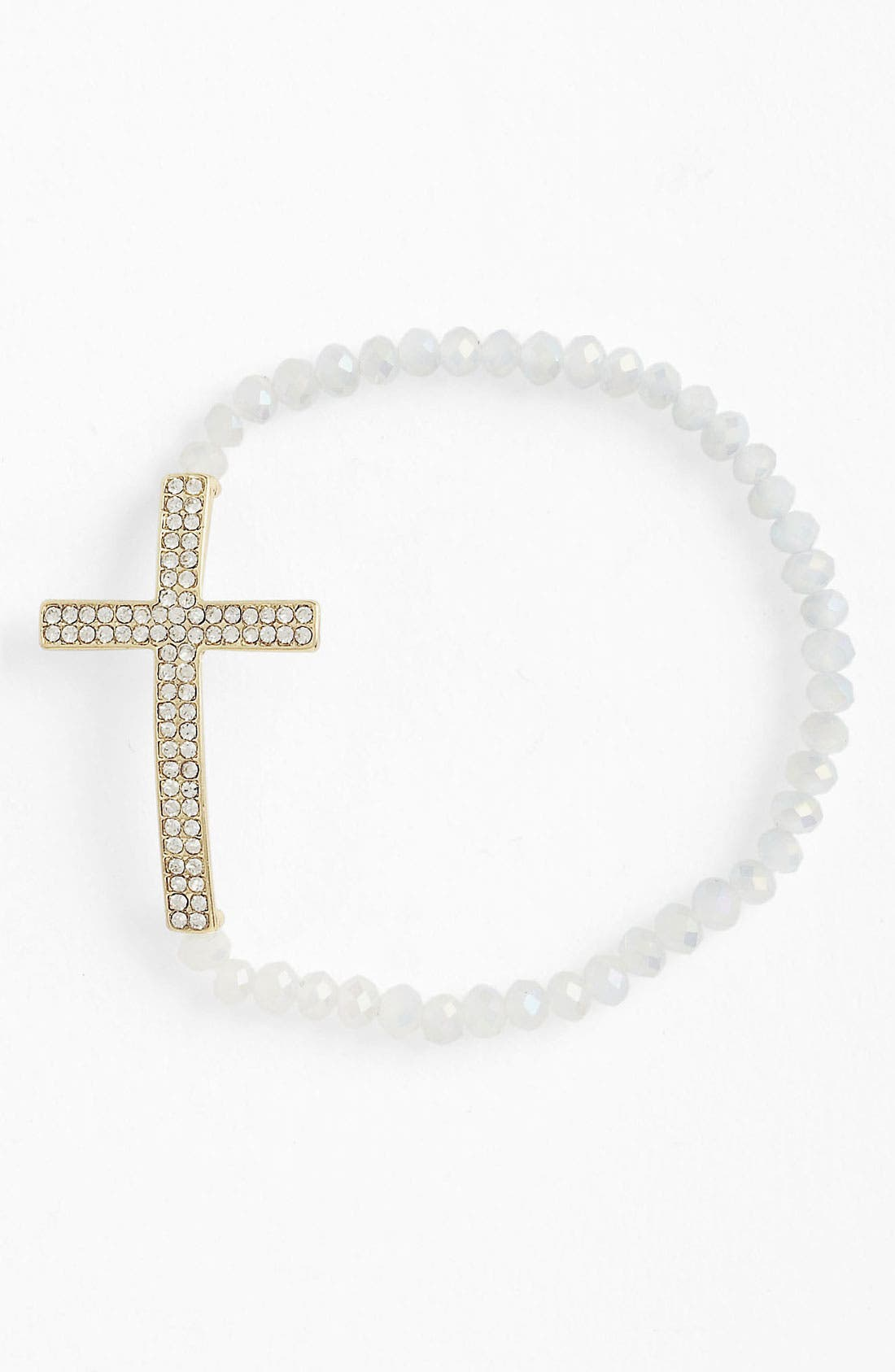 Main Image - Guinevere Cross Stretch Bracelet