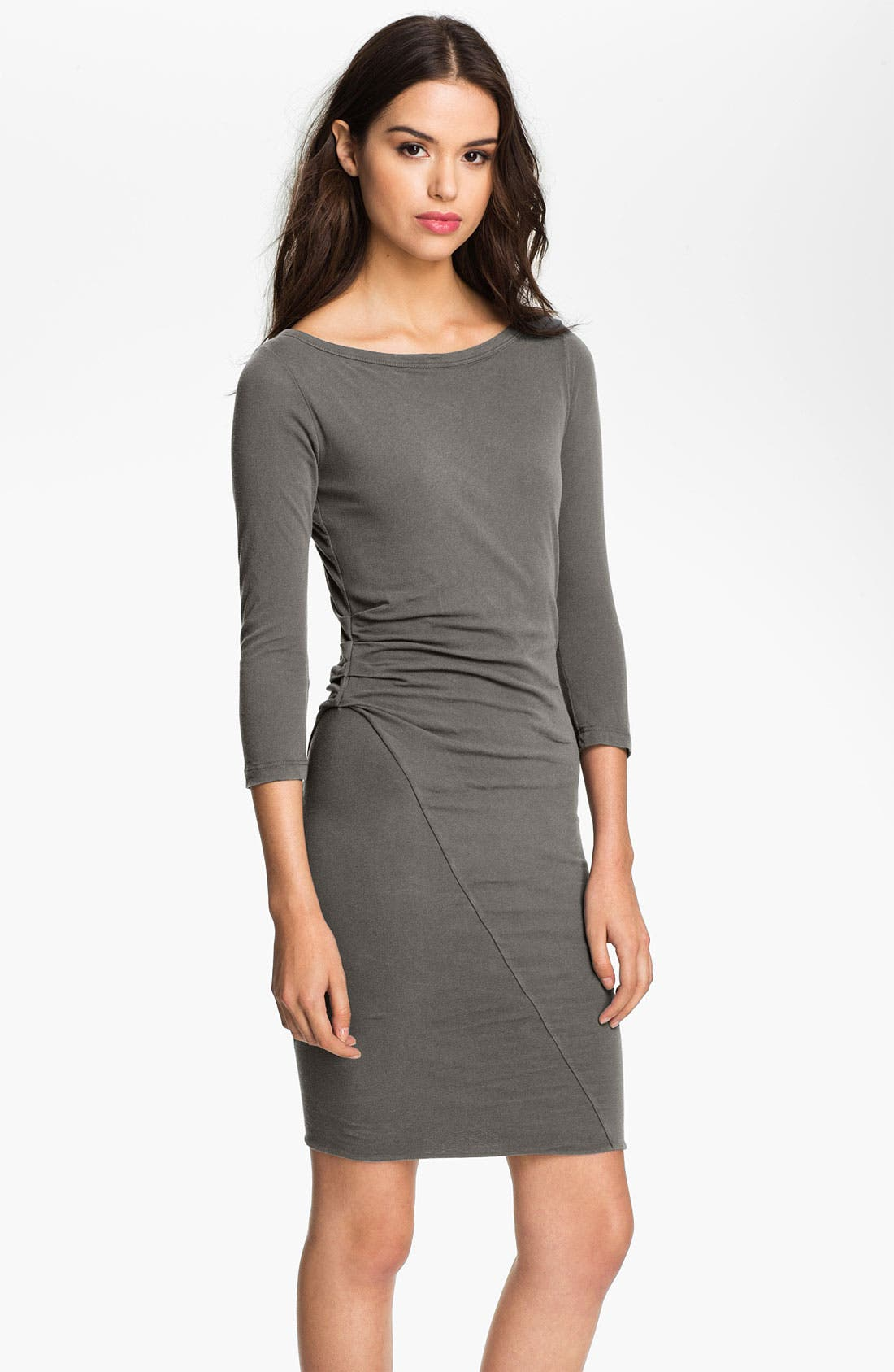 Alternate Image 1 Selected - James Perse Asymmetrical Ruched Dress