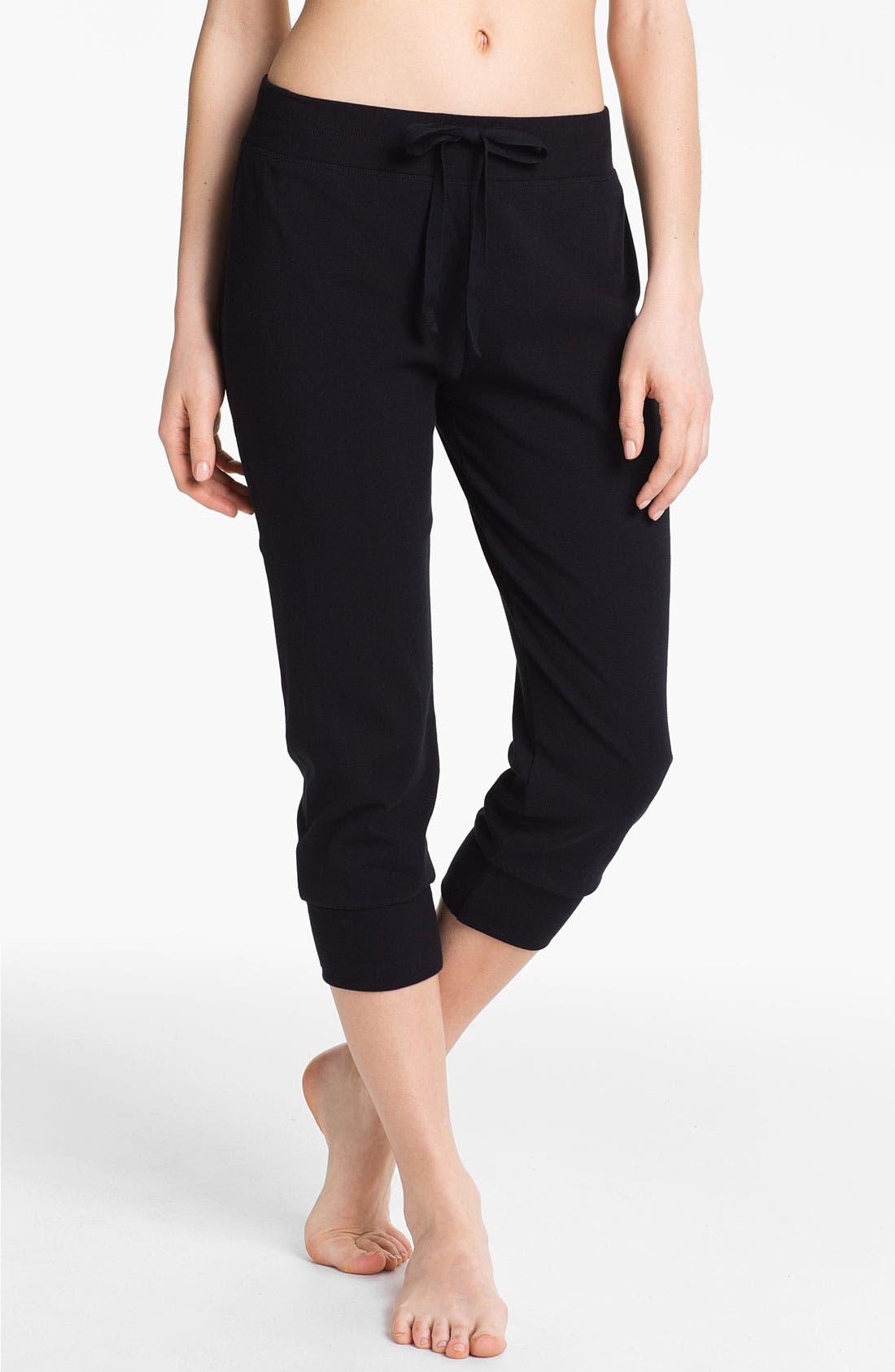 Main Image - Donna Karan 'Casual Luxe' Crop Lounge Pants