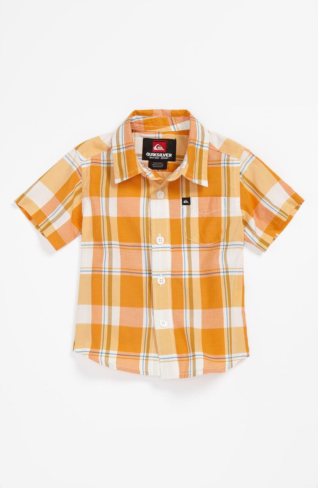 Alternate Image 1 Selected - Quiksilver 'Pat' Plaid Shirt (Baby)
