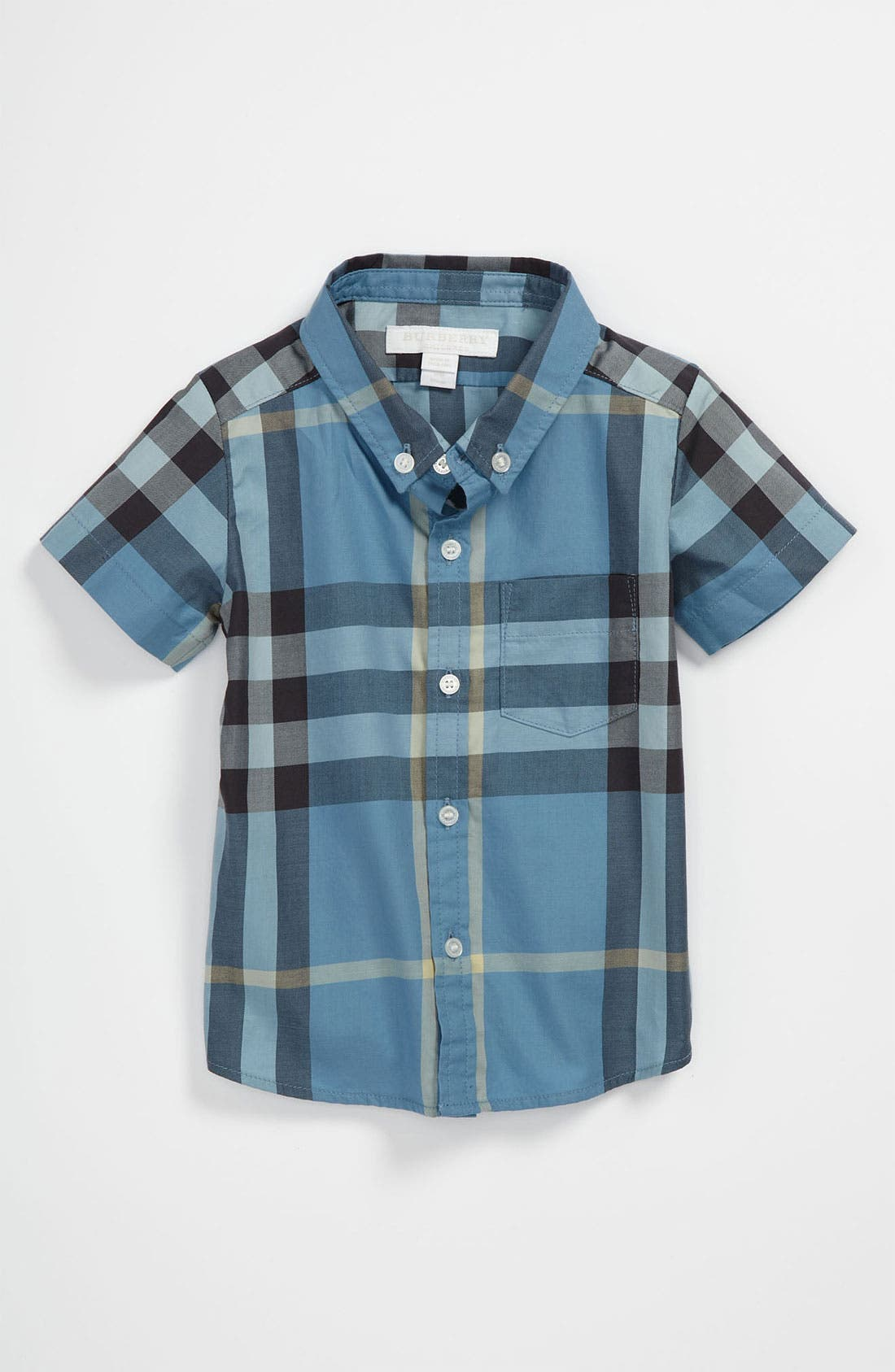 Alternate Image 1 Selected - Burberry 'Mini Fred' Woven Shirt (Baby)