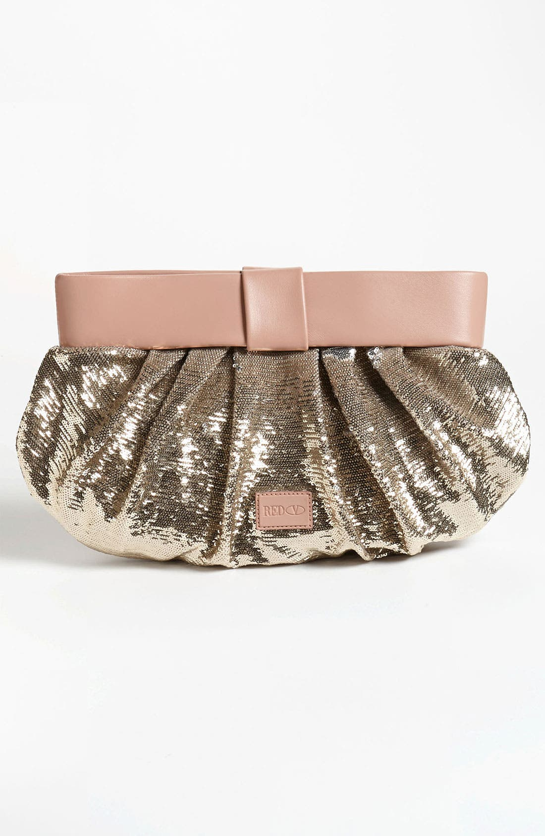 Alternate Image 4  - RED Valentino 'Bow' Sequin Clutch