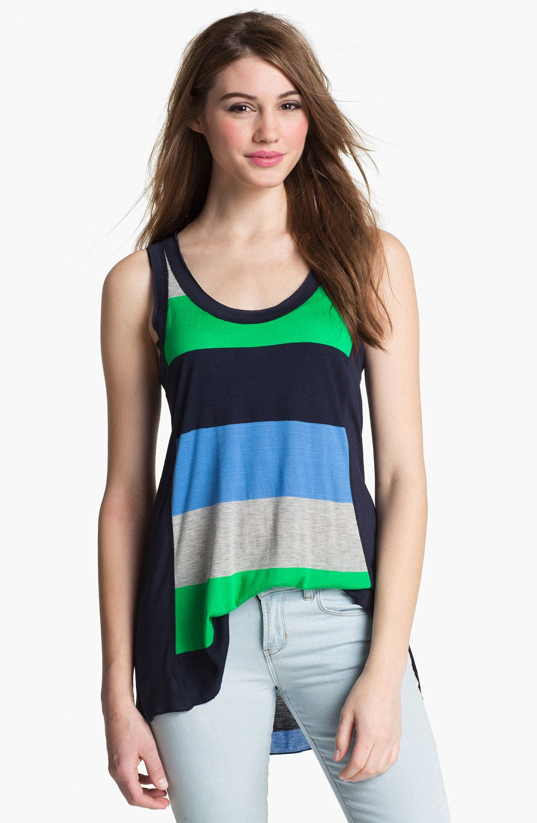Alternate Image 1 Selected - Two by Vince Camuto Rugby Stripe Tank