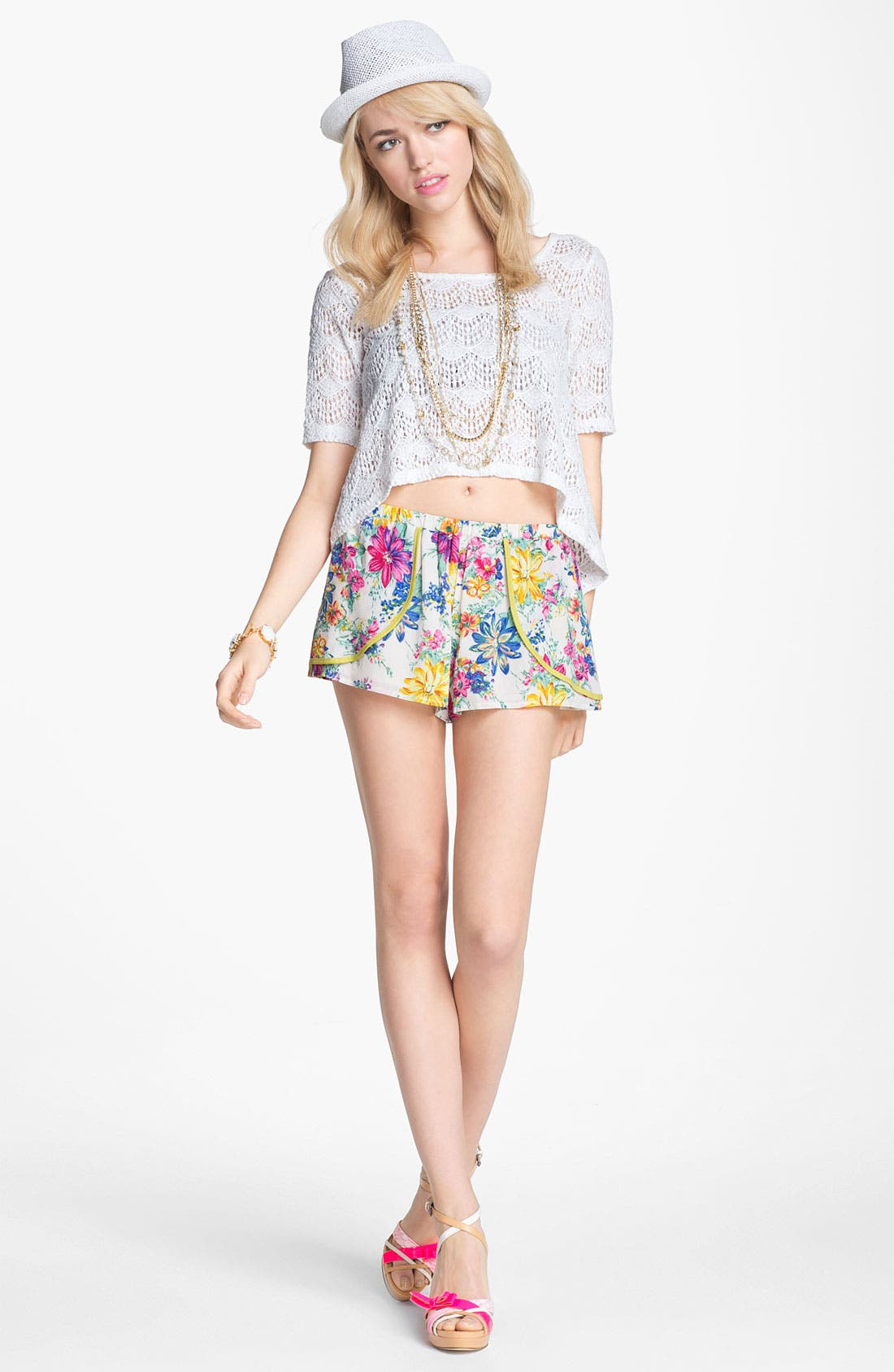 Alternate Image 2  - Lucca Couture Floral Shorts