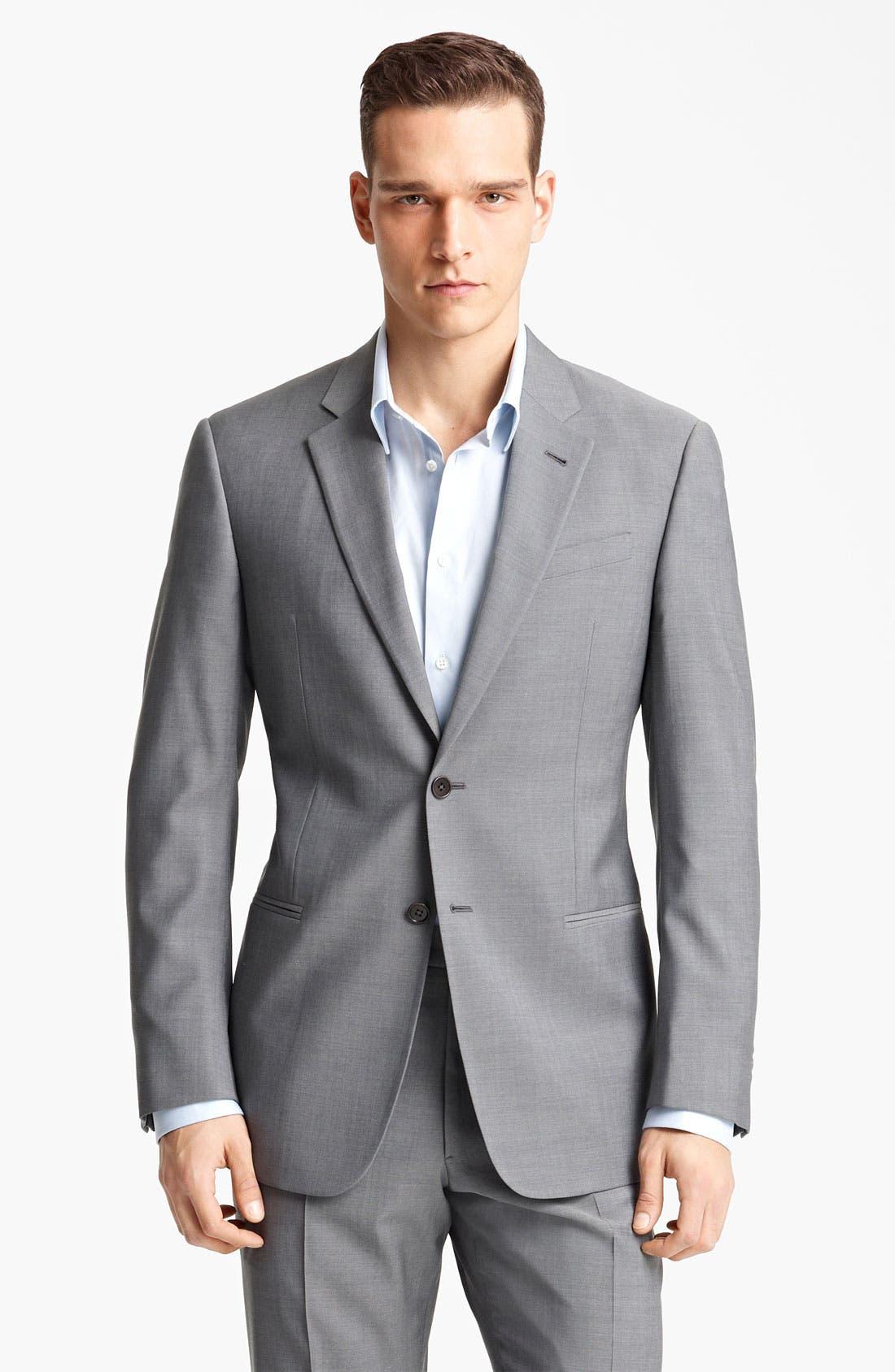 Alternate Image 1 Selected - Armani Collezioni 'Giorgio' Trim Fit Suit