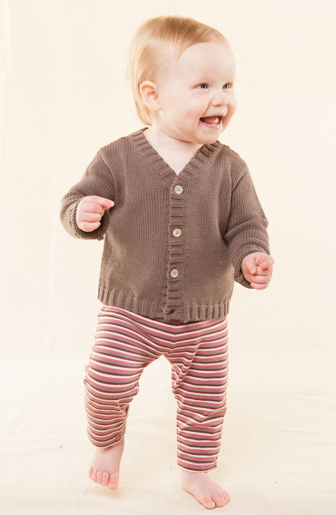 Alternate Image 2  - Peek 'Little Peanut - Andre' Cardigan (Baby)
