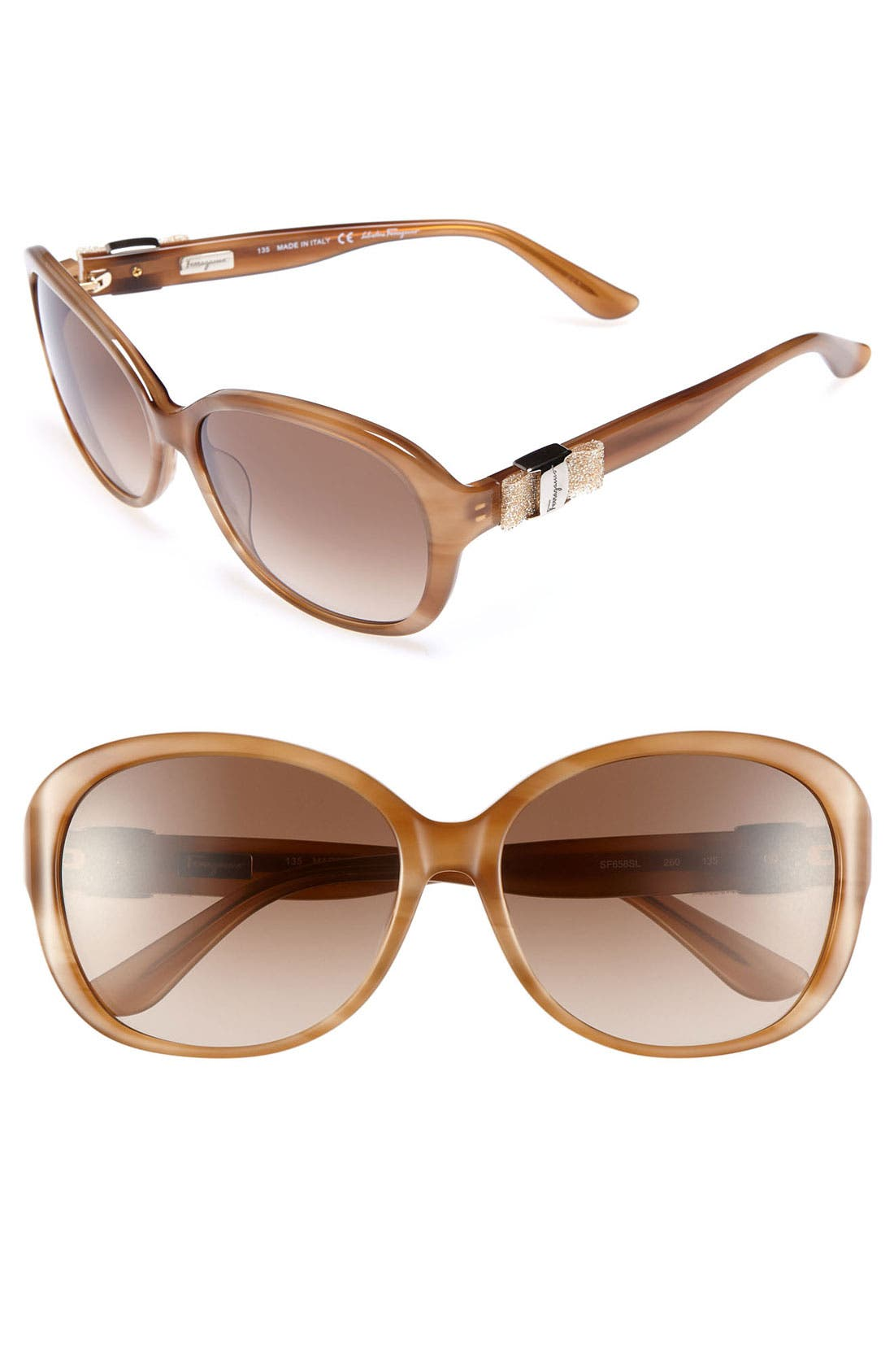 Alternate Image 1 Selected - Salvatore Ferragamo Oversized Sunglasses