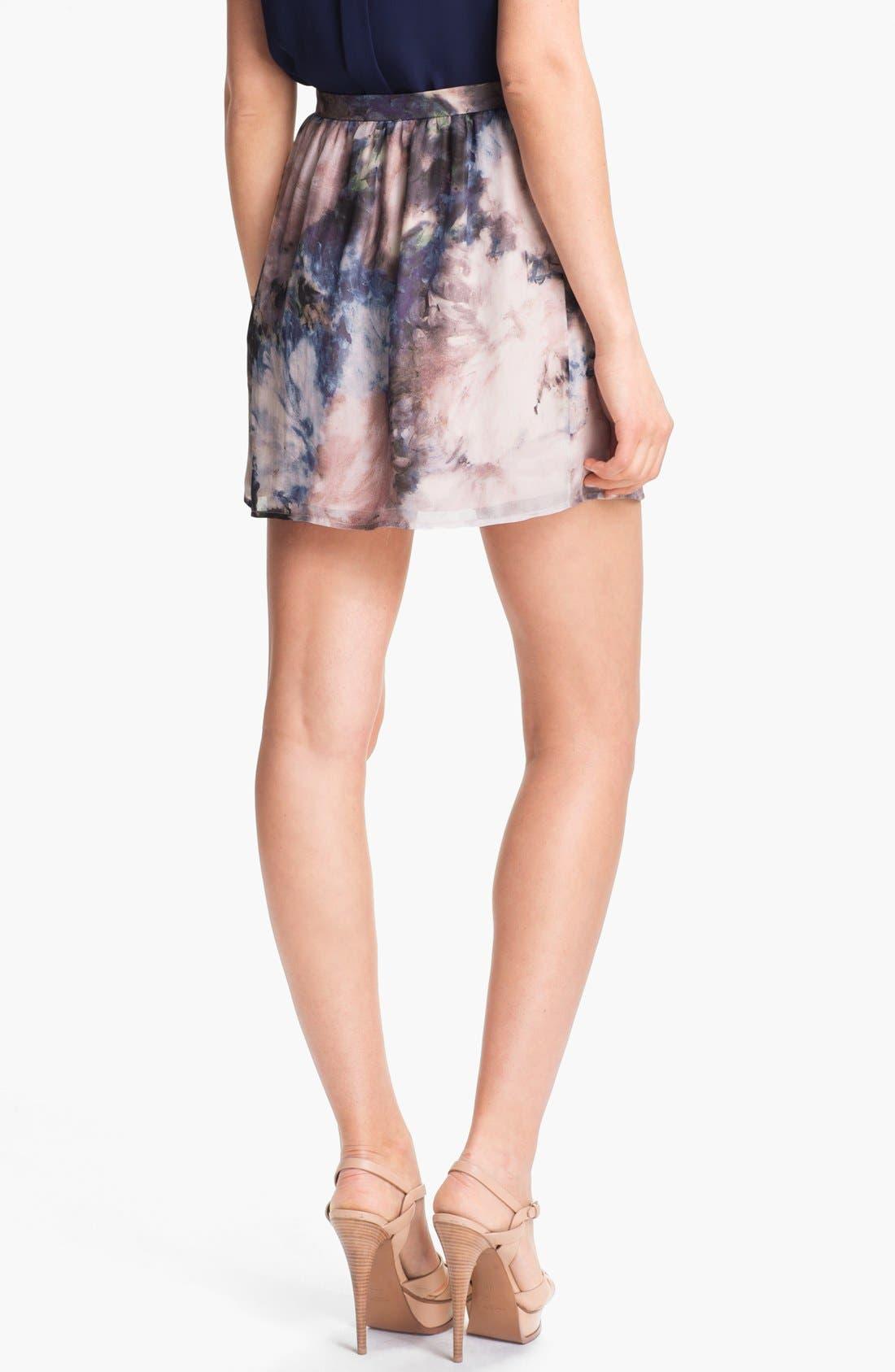 Alternate Image 2  - Haute Hippie Floral Print Silk Skirt