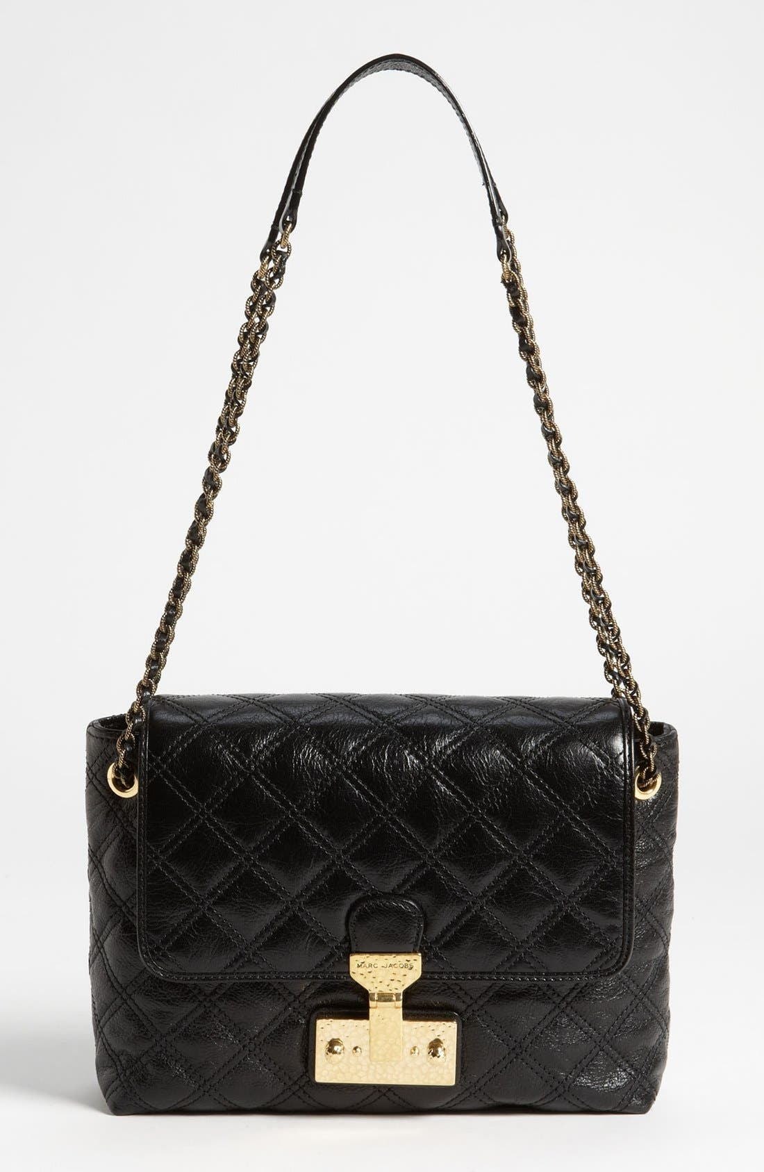 Main Image - MARC JACOBS 'Large Baroque Single' Leather Shoulder Bag