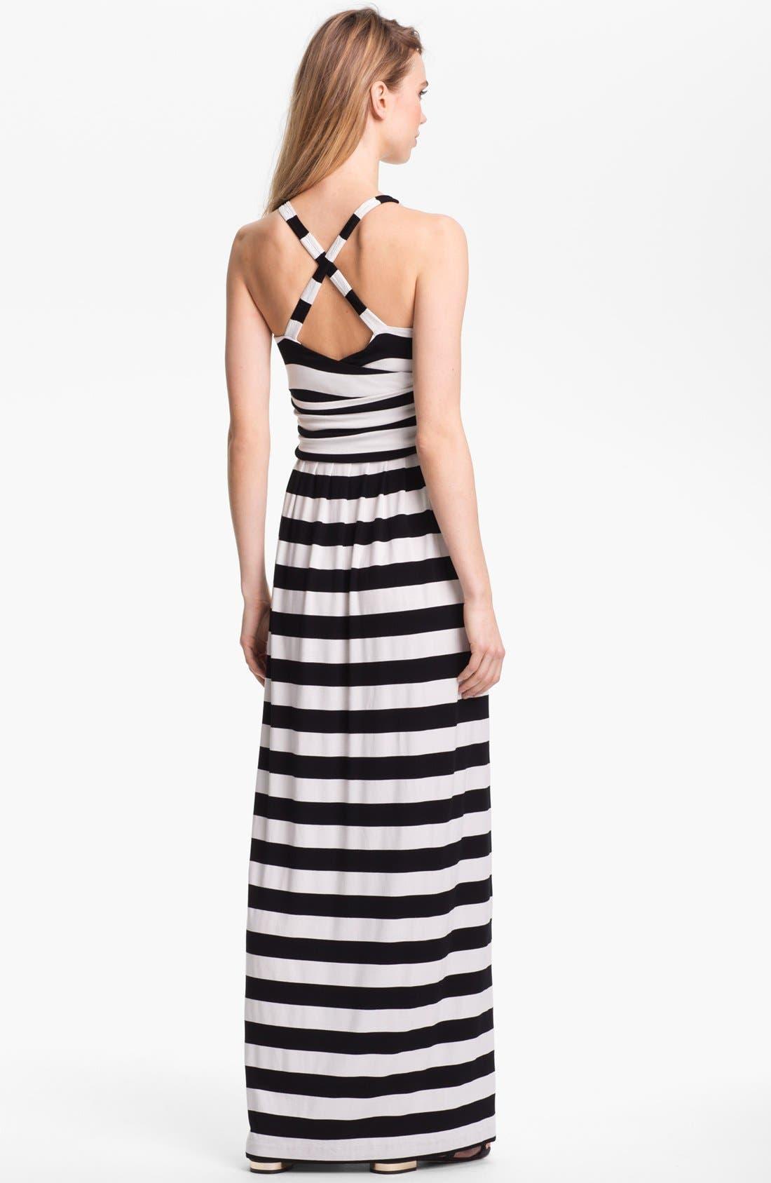 Alternate Image 2  - Vince Camuto Stripe Halter Maxi Dress